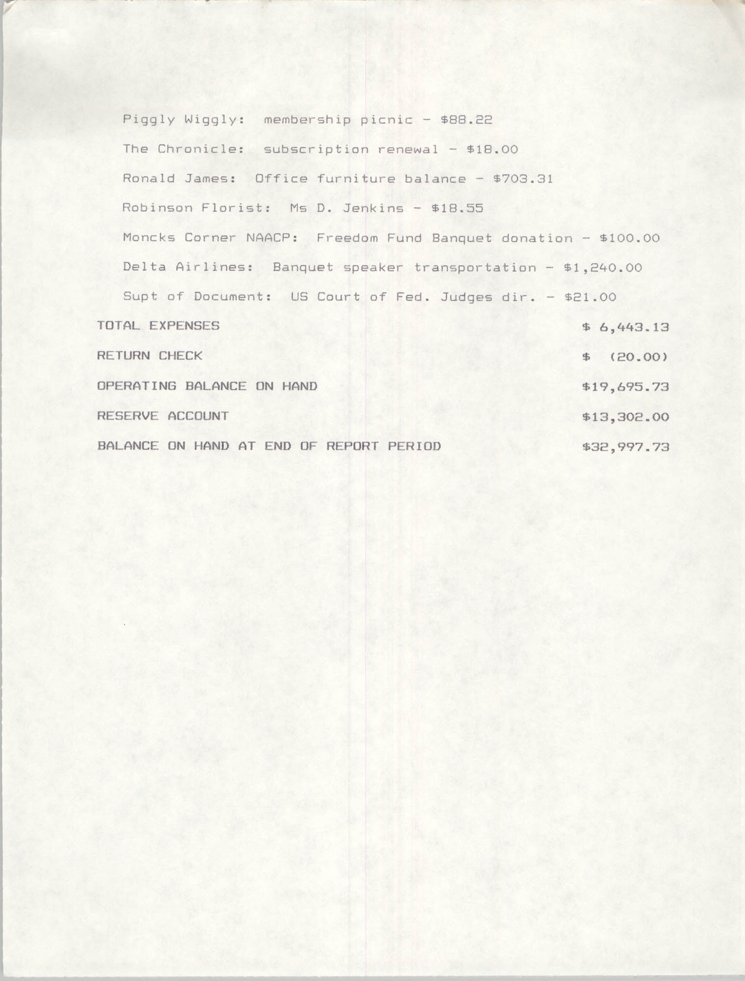 Charleston Branch of the NAACP Financial Report, August 1991, Page 2