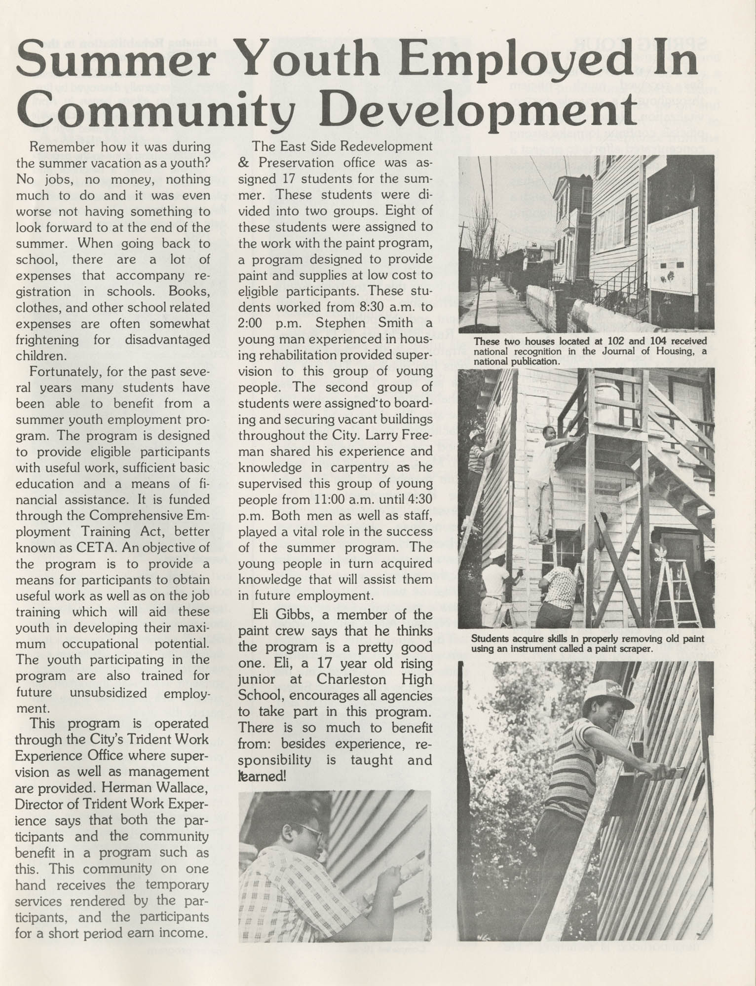 C. D. Newsletter, A City of Charleston Community Development Publication, Summer Issue - 1982, Page 2