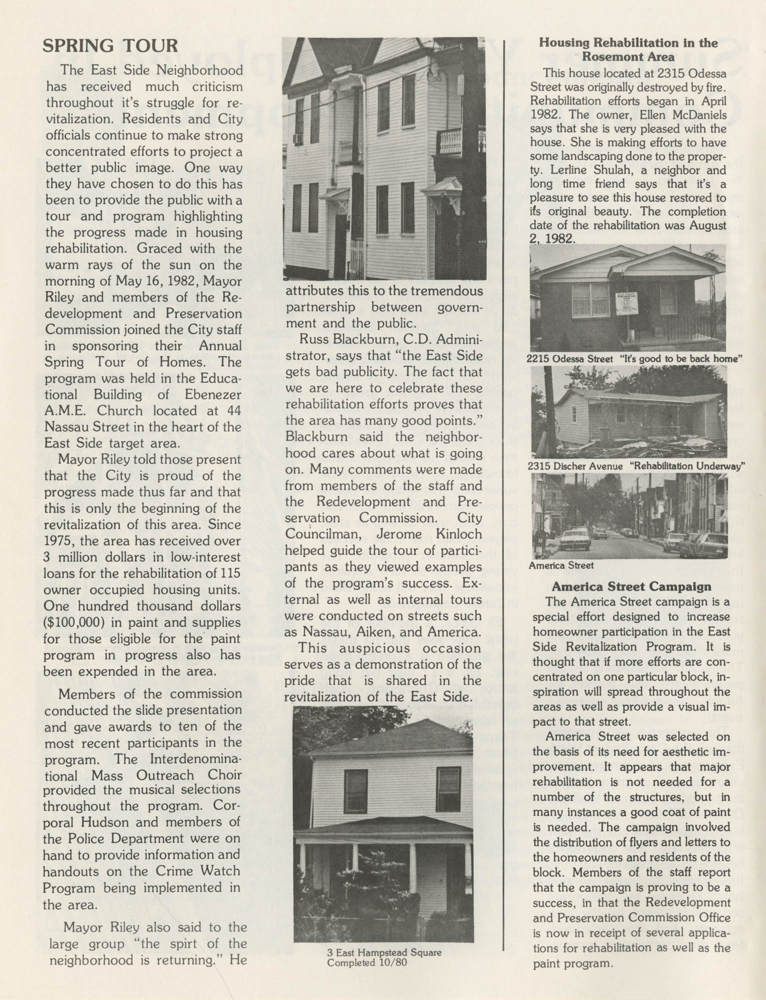 C. D. Newsletter, A City of Charleston Community Development Publication, Summer Issue - 1982, Page 3