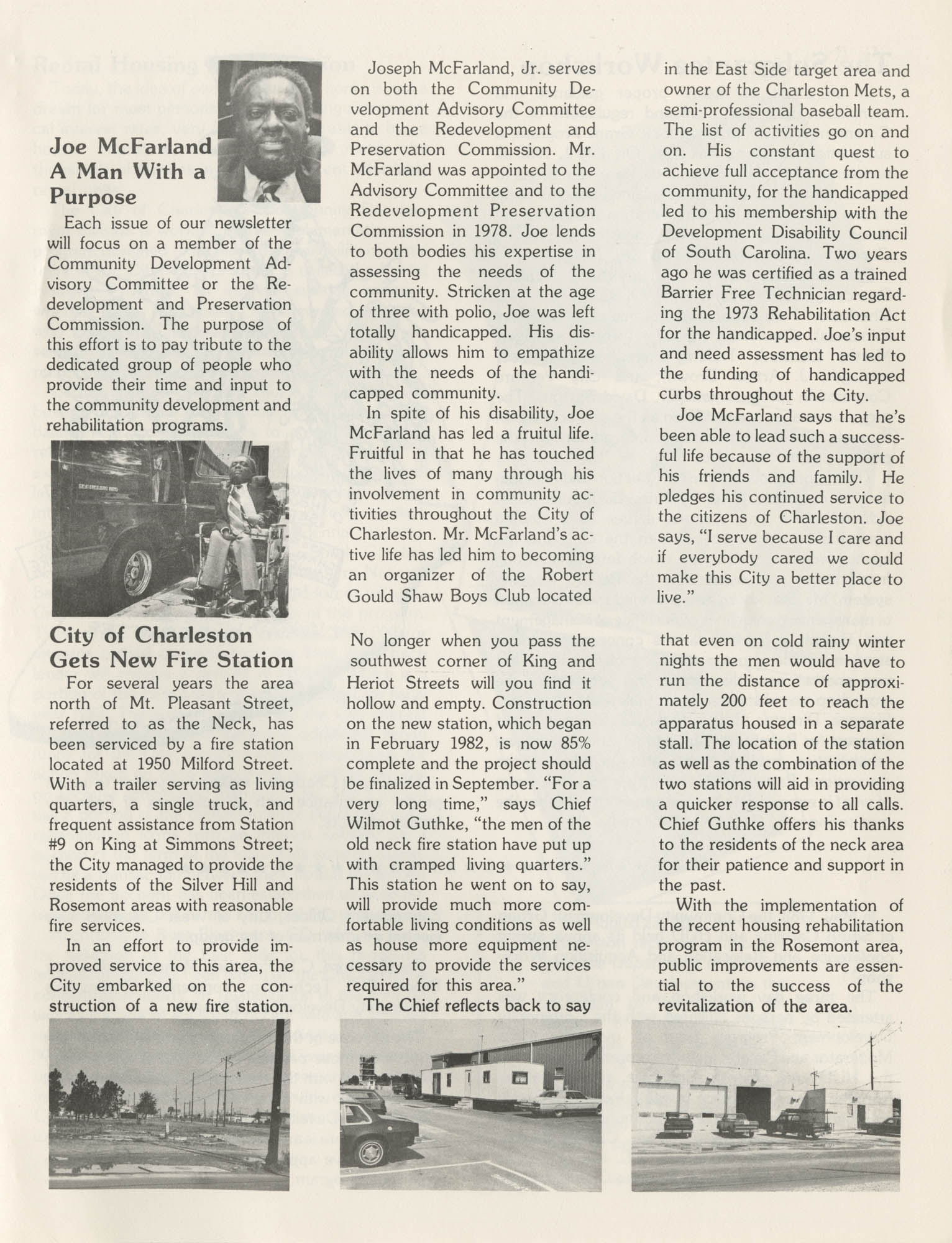 C. D. Newsletter, A City of Charleston Community Development Publication, Summer Issue - 1982, Page 5