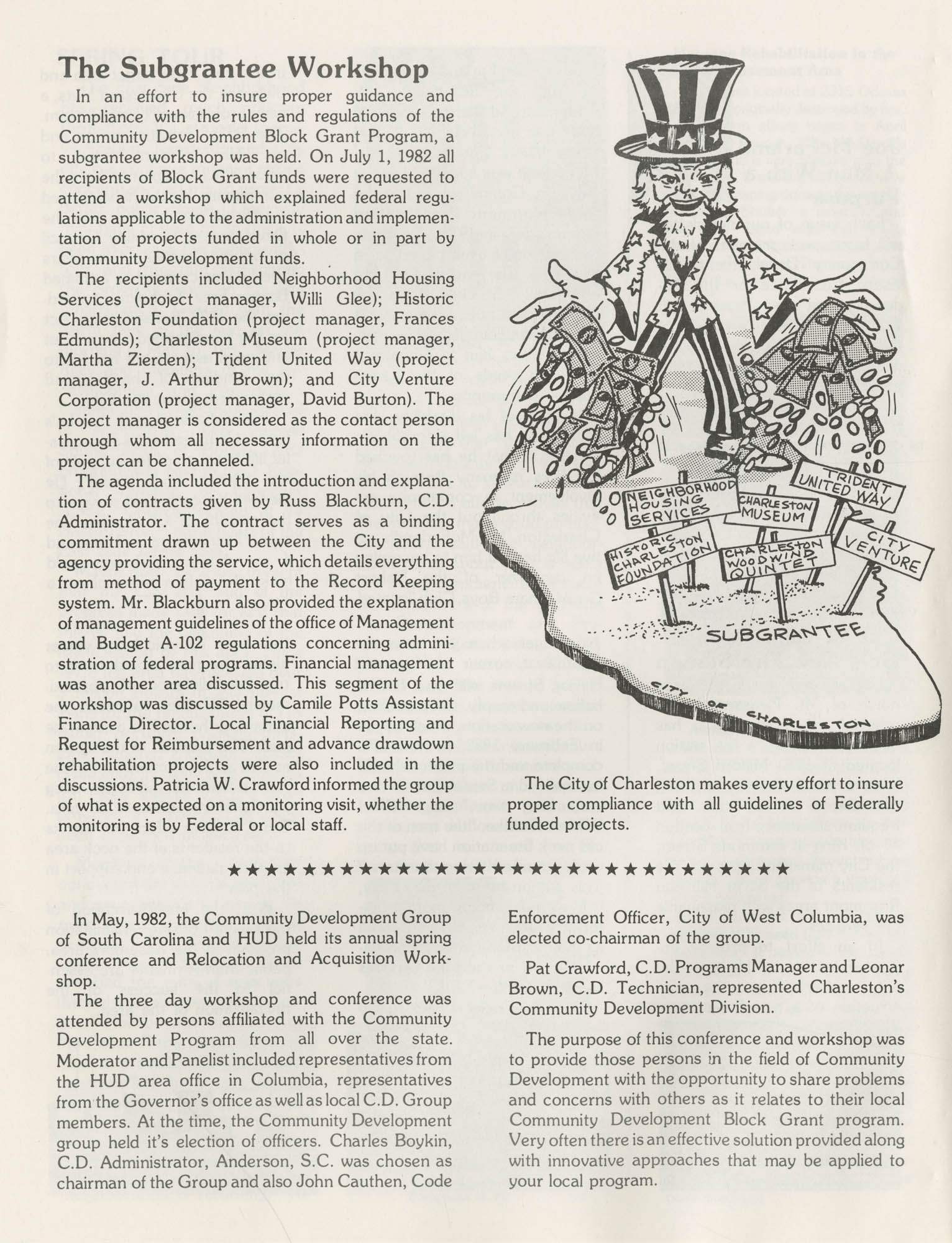 C. D. Newsletter, A City of Charleston Community Development Publication, Summer Issue - 1982, Page 6