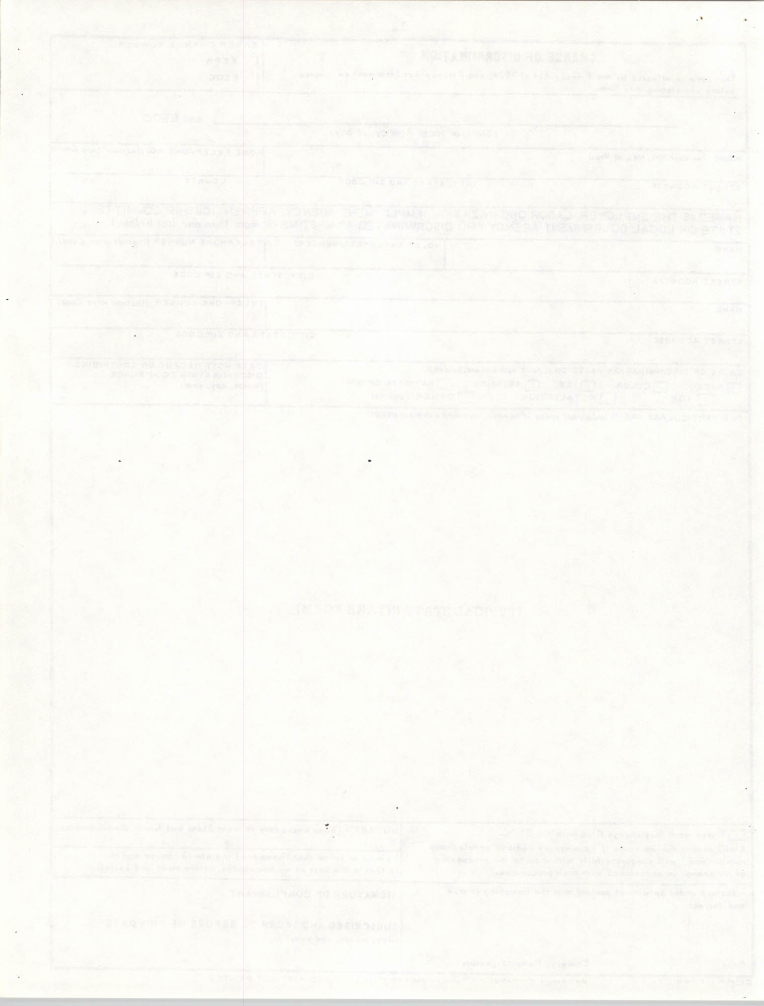Handbook for Addressing Discrimination Complaints, NAACP Labor and Industry Committees, Blank Page