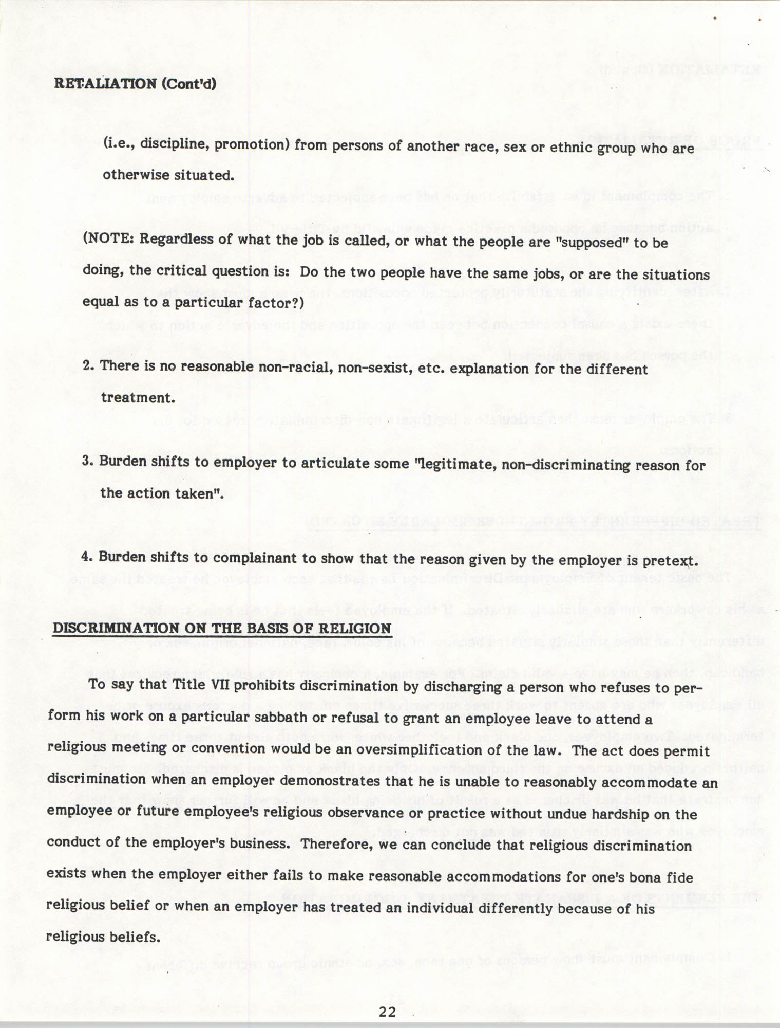 Handbook for Addressing Discrimination Complaints, NAACP Labor and Industry Committees, Page 22