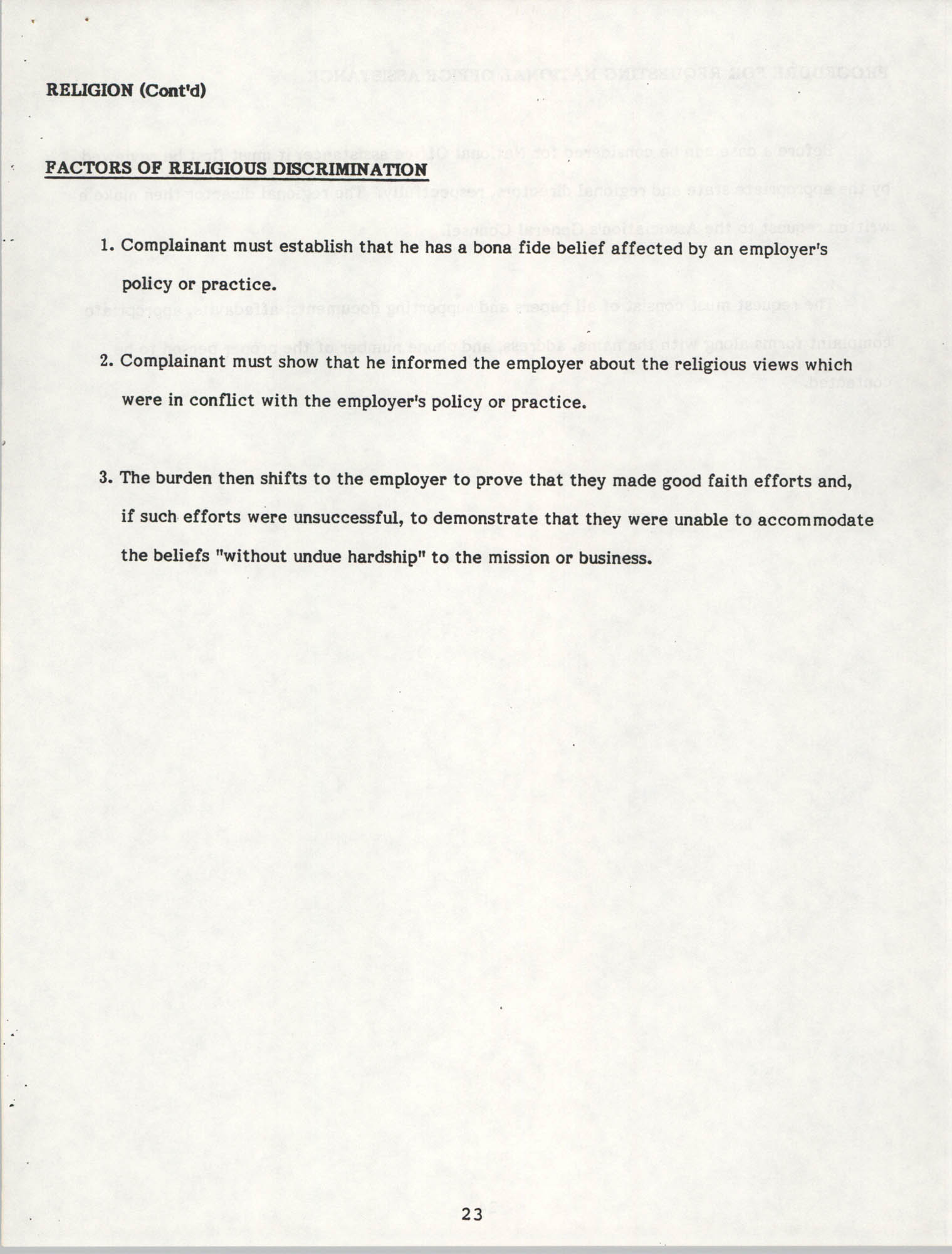 Handbook for Addressing Discrimination Complaints, NAACP Labor and Industry Committees, Page 23