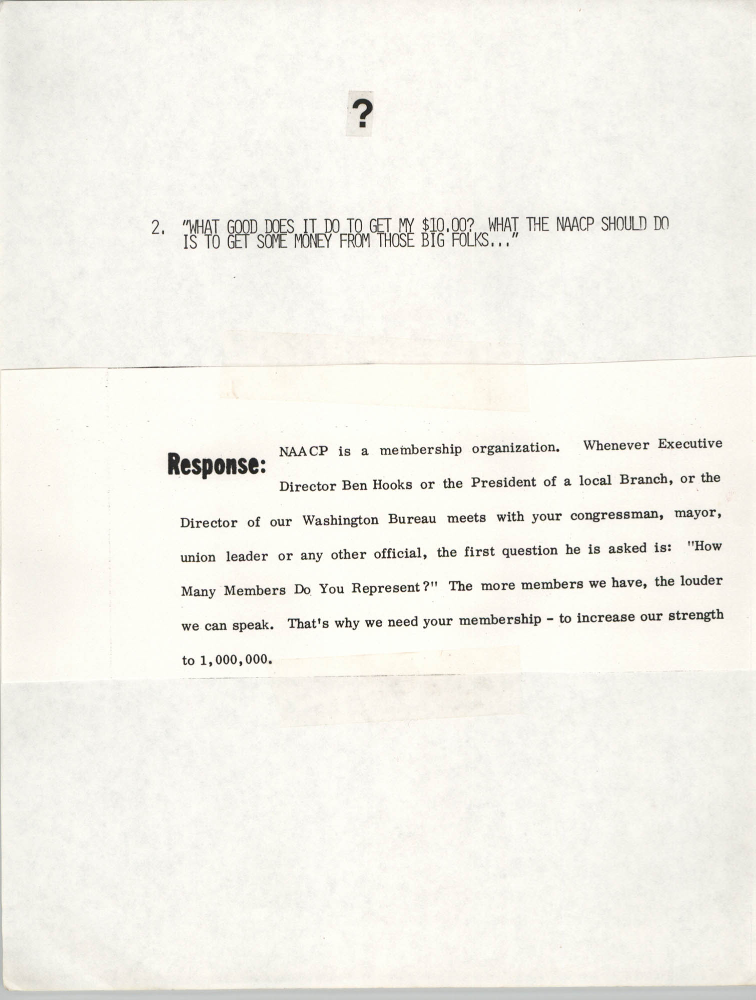 Tips for Soliciting NAACP Members, Pamphlet, Charleston Branch of the NAACP, 1987, Page 2