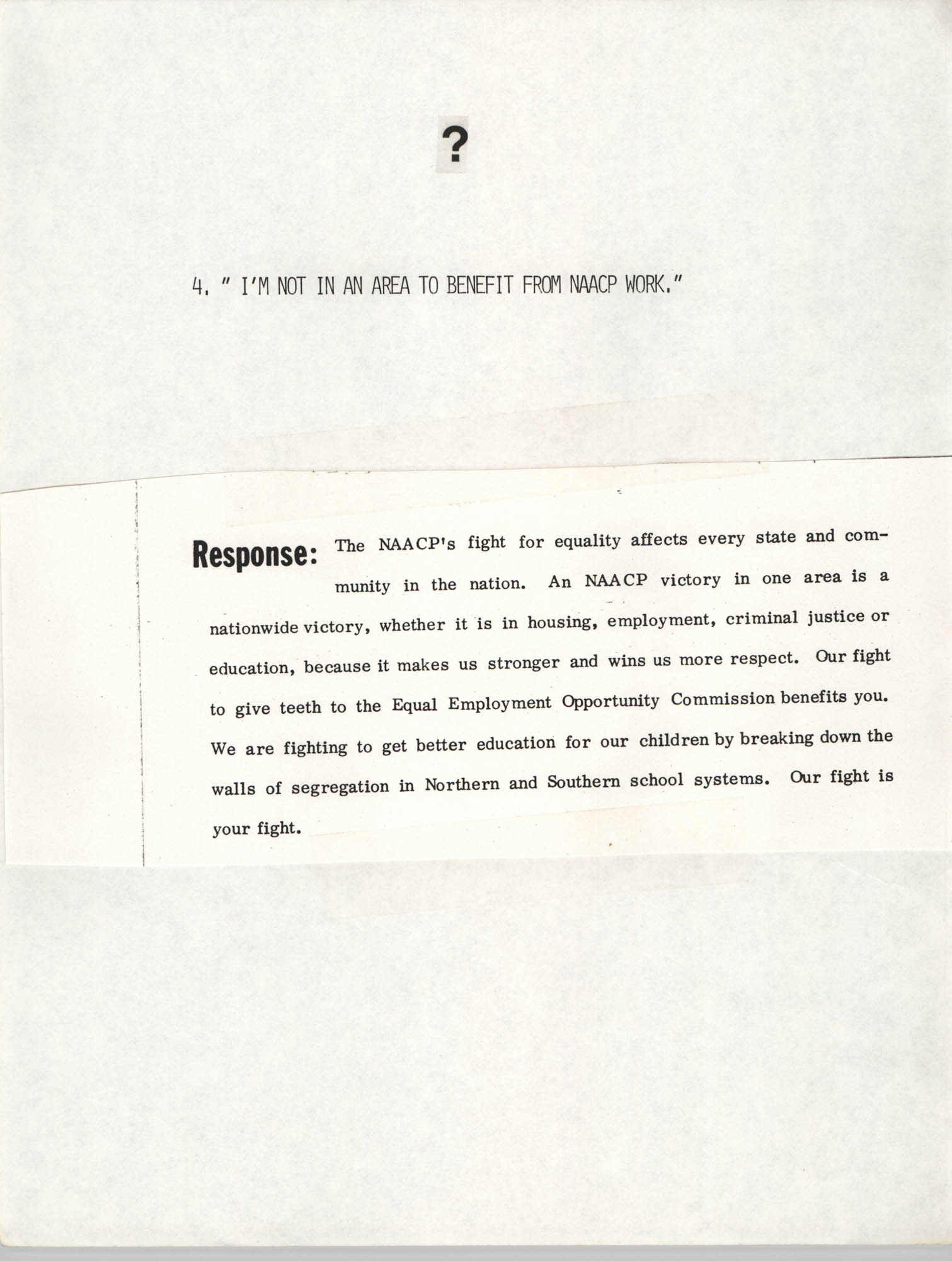 Tips for Soliciting NAACP Members, Pamphlet, Charleston Branch of the NAACP, 1987, Page 4