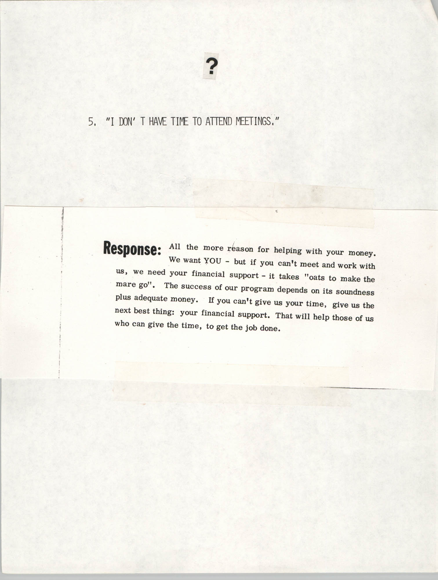 Tips for Soliciting NAACP Members, Pamphlet, Charleston Branch of the NAACP, 1987, Page 5