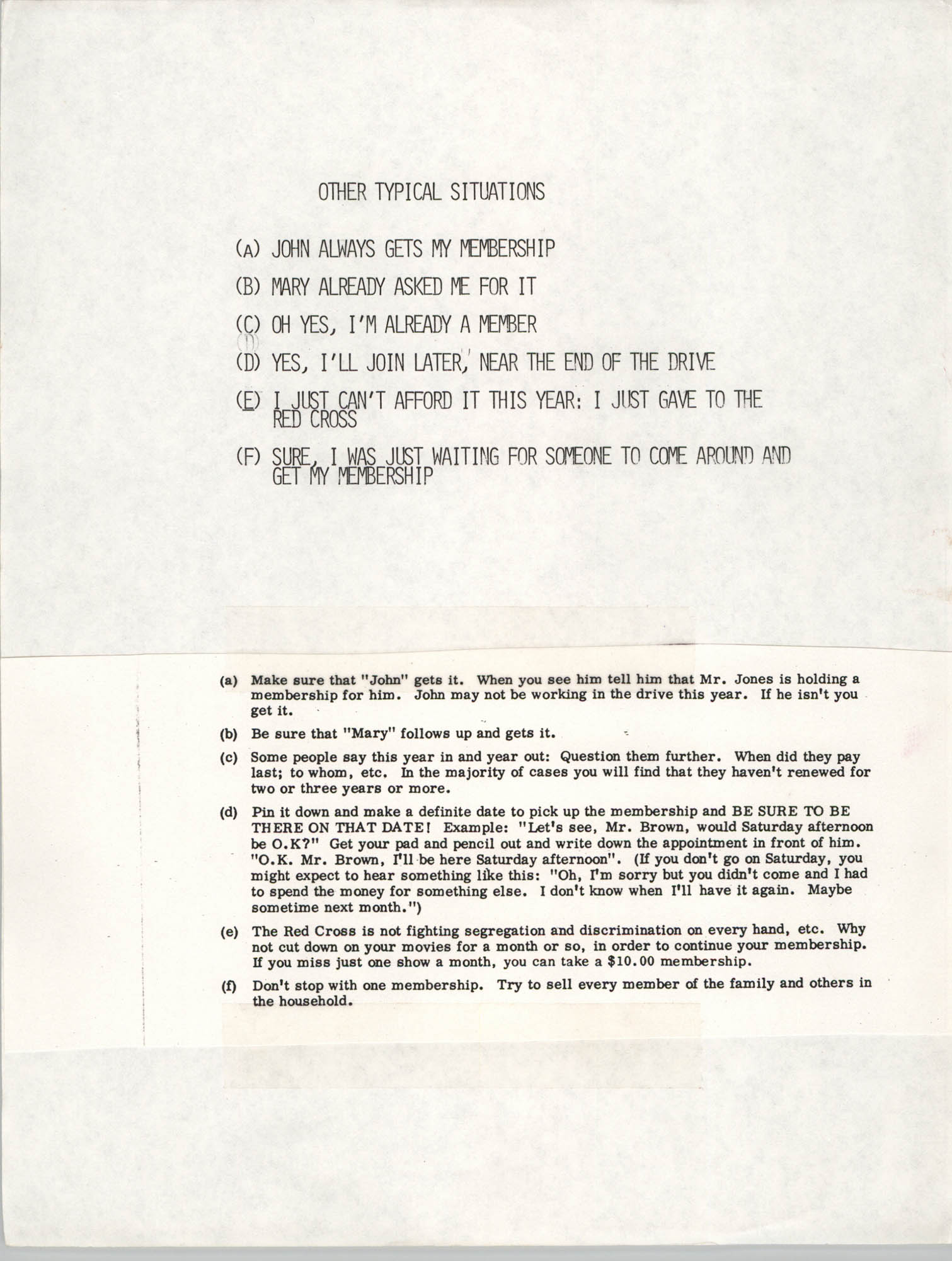 Tips for Soliciting NAACP Members, Pamphlet, Charleston Branch of the NAACP, 1987, Page 7