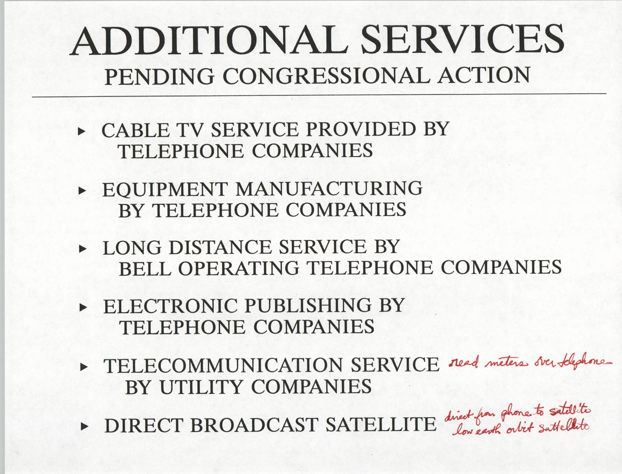 Developing an Agenda for the Information Superhighway, Anthony L. Pharr, May 20, 1994, Page 13
