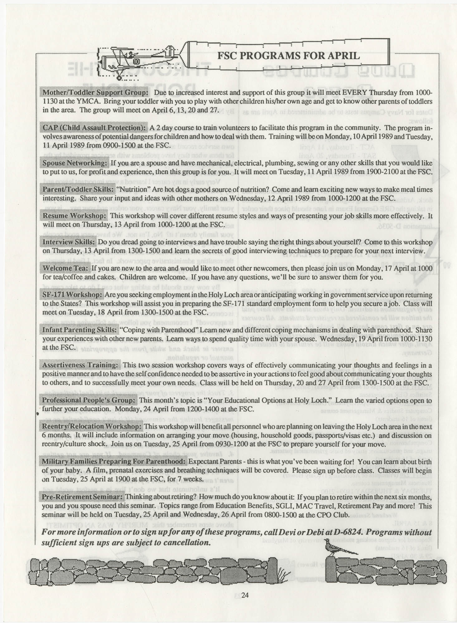 Periscope/Highlander, Vol. 1 No. 6, April 1989, Page 24