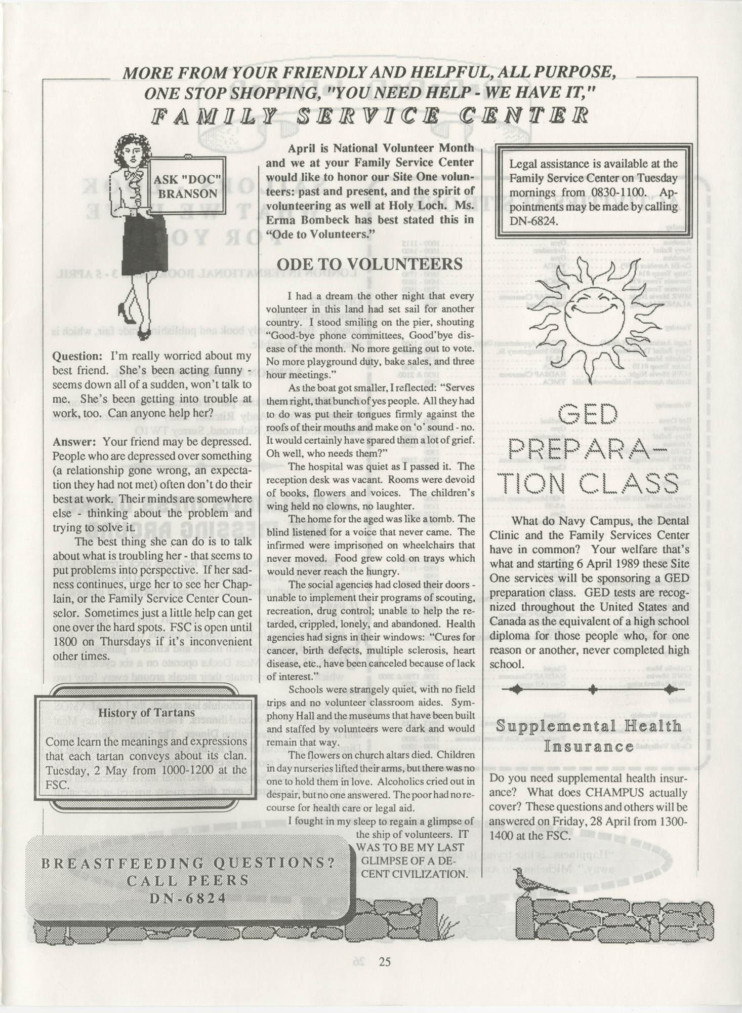 Periscope/Highlander, Vol. 1 No. 6, April 1989, Page 25