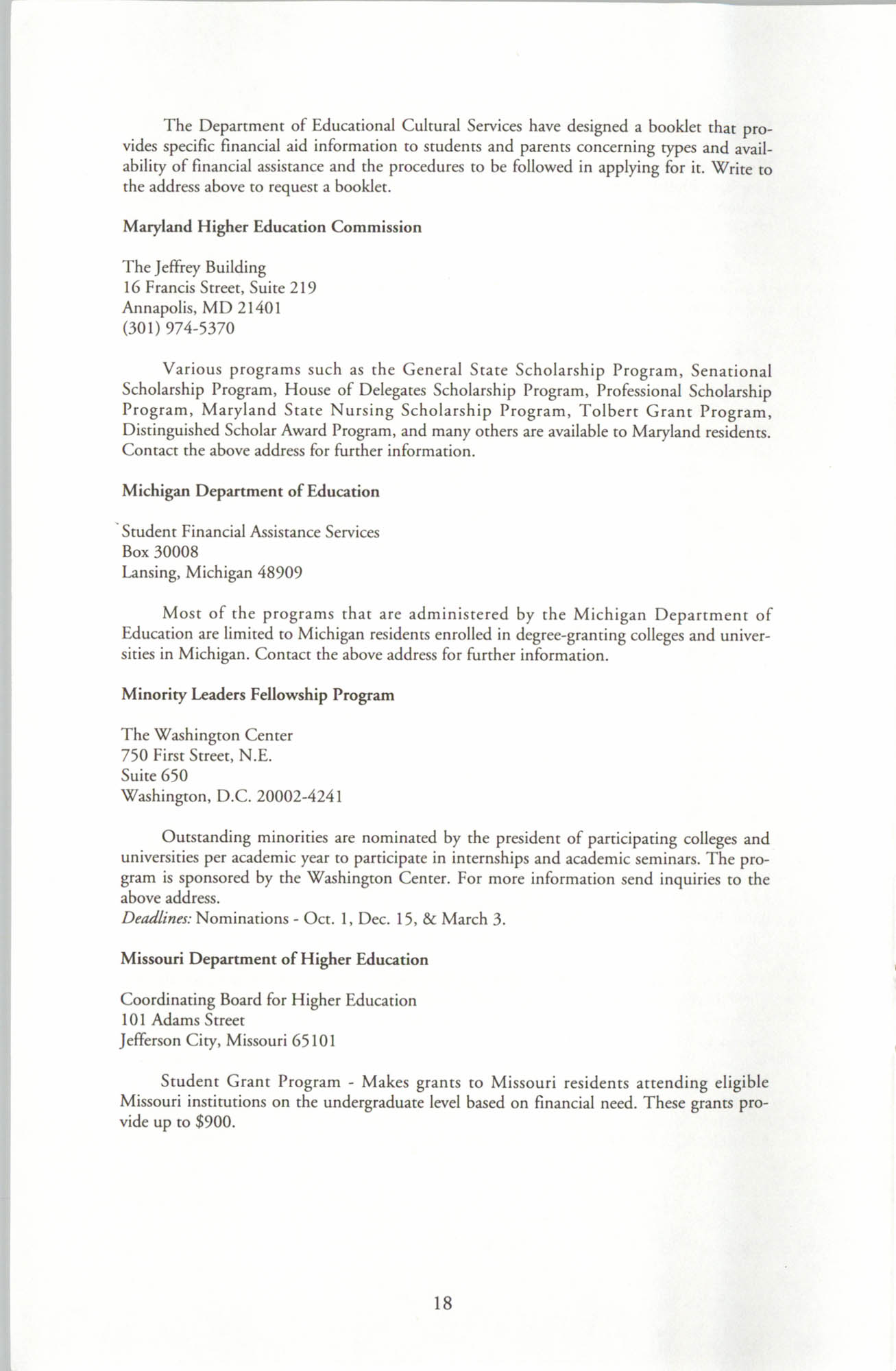 Financial Aid Resource Guide, Education Department, NAACP, Page 18