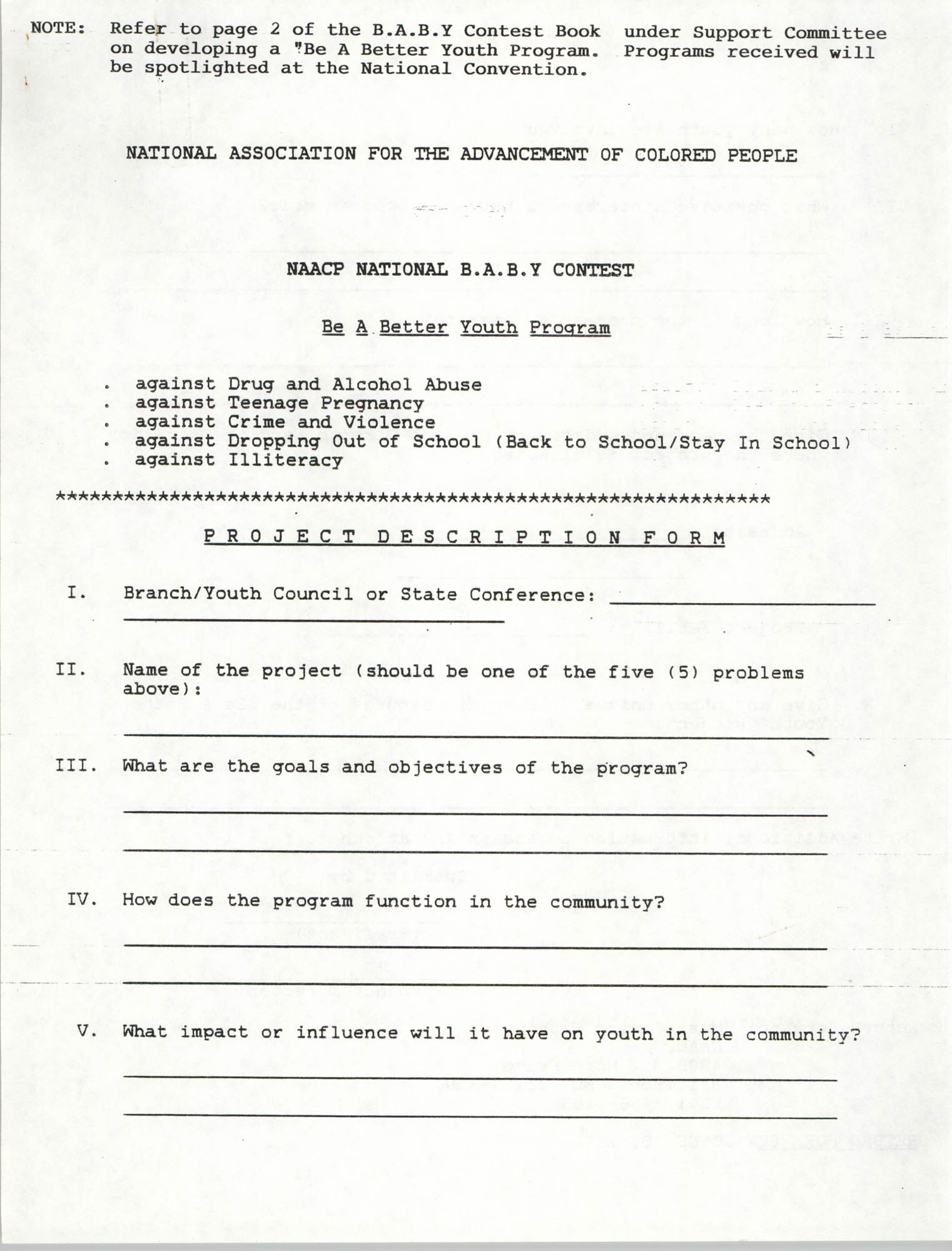 National Baby For Freedom Contest, NAACP, March 1991, Page 6