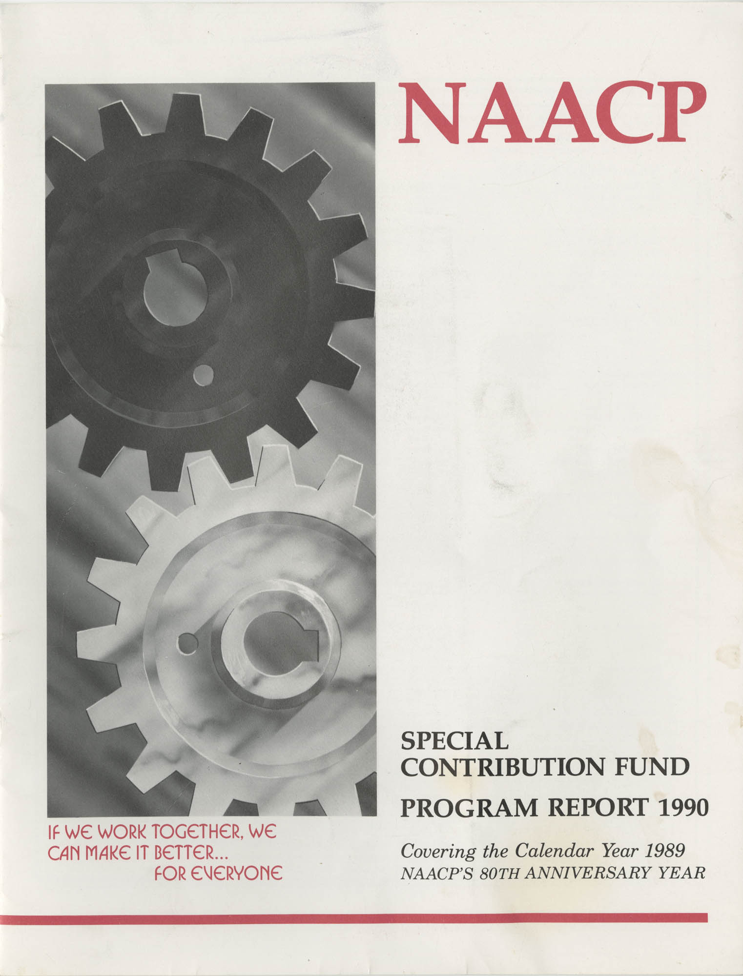 Program Report 1990, Special Contribution Fund, NAACP, Cover Page