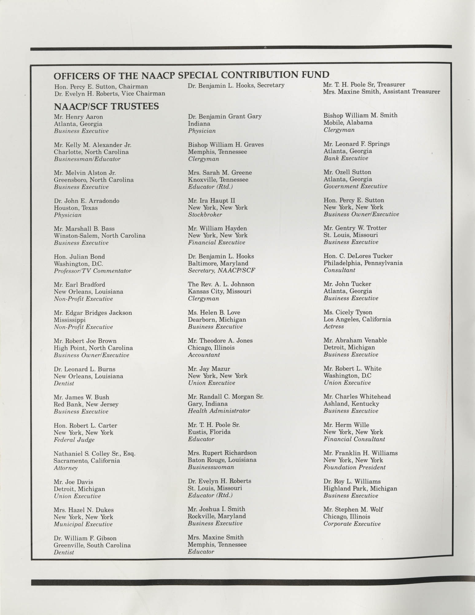 Program Report 1990, Special Contribution Fund, NAACP,  Introduction Page 1