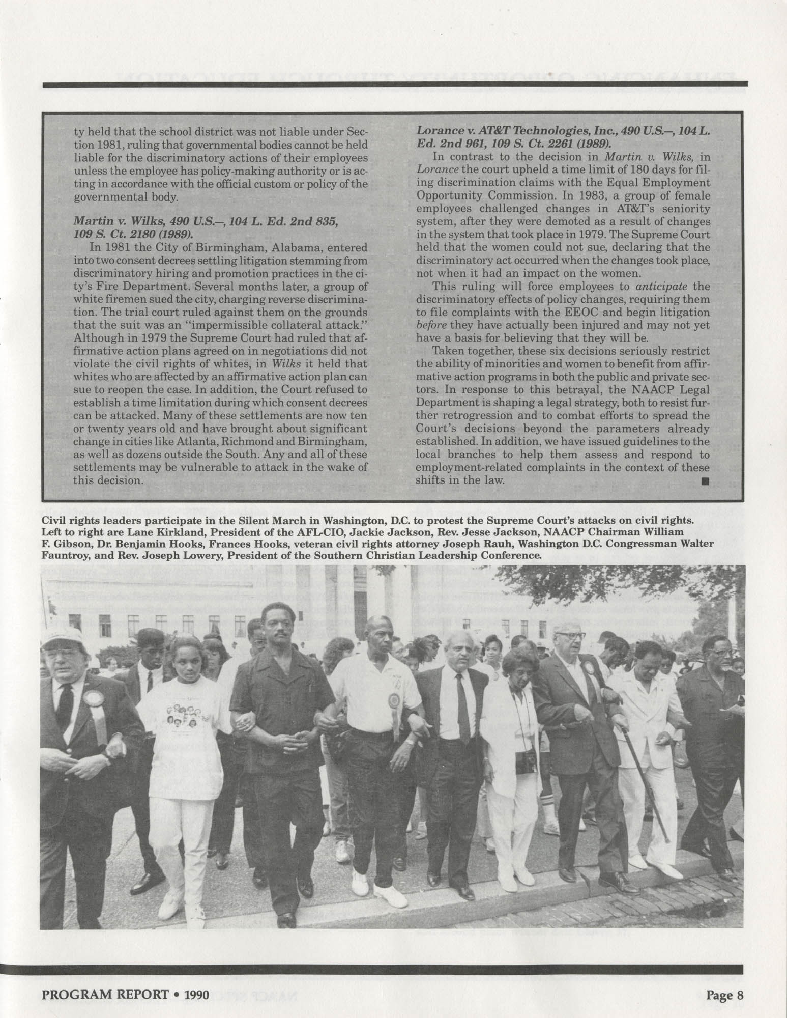 Program Report 1990, Special Contribution Fund, NAACP, Page 8