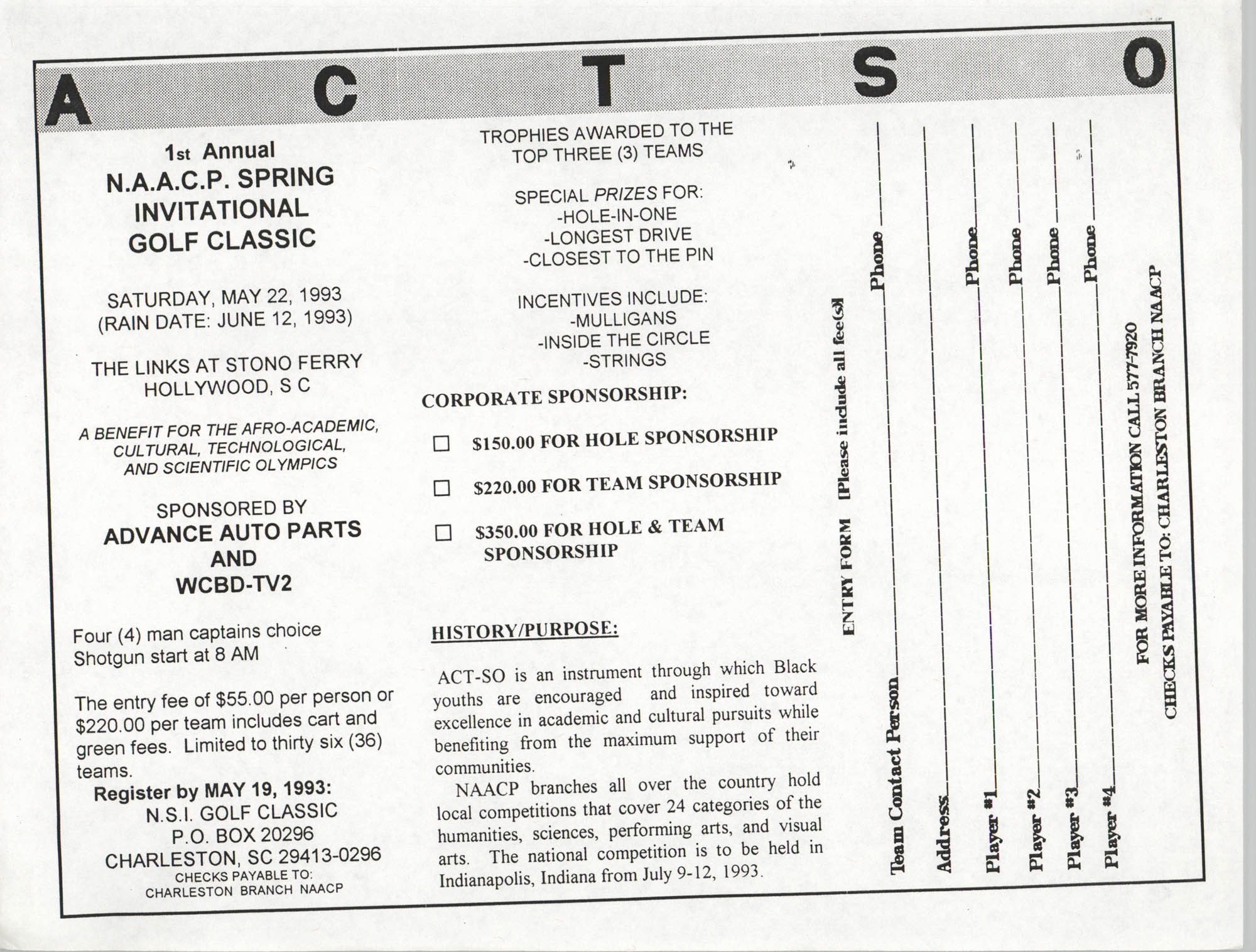 1st Annual NAACP Spring Invitational Golf Classic Awards Ceremony and Reception, NAACP, 1993, Page 4