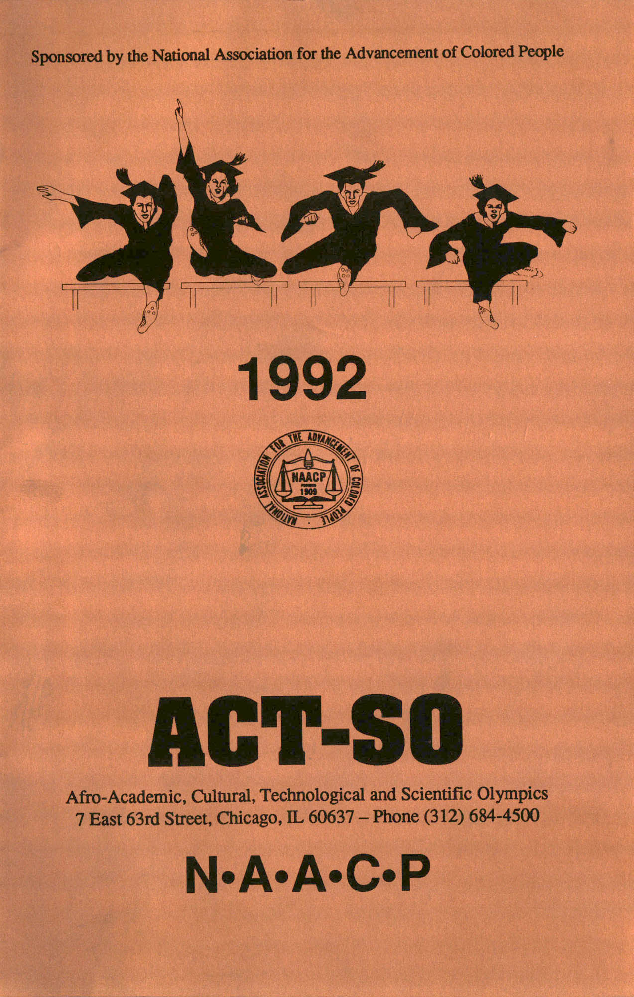 Brochure, ACT-SO Program, NAACP, 1992, Cover