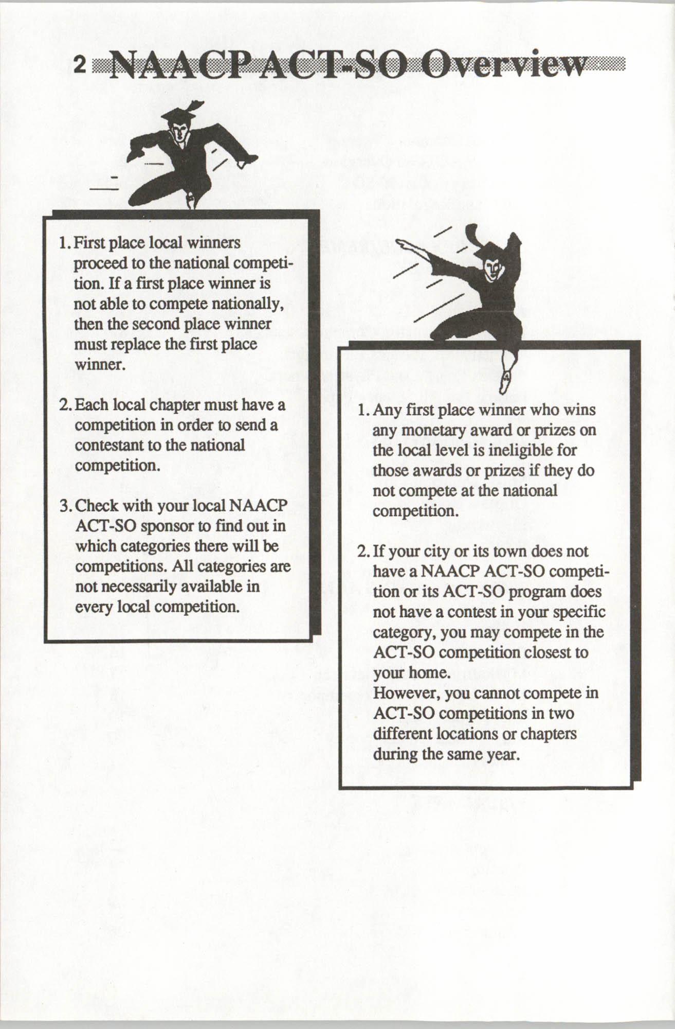 Brochure, ACT-SO Program, NAACP, 1992, Page 2