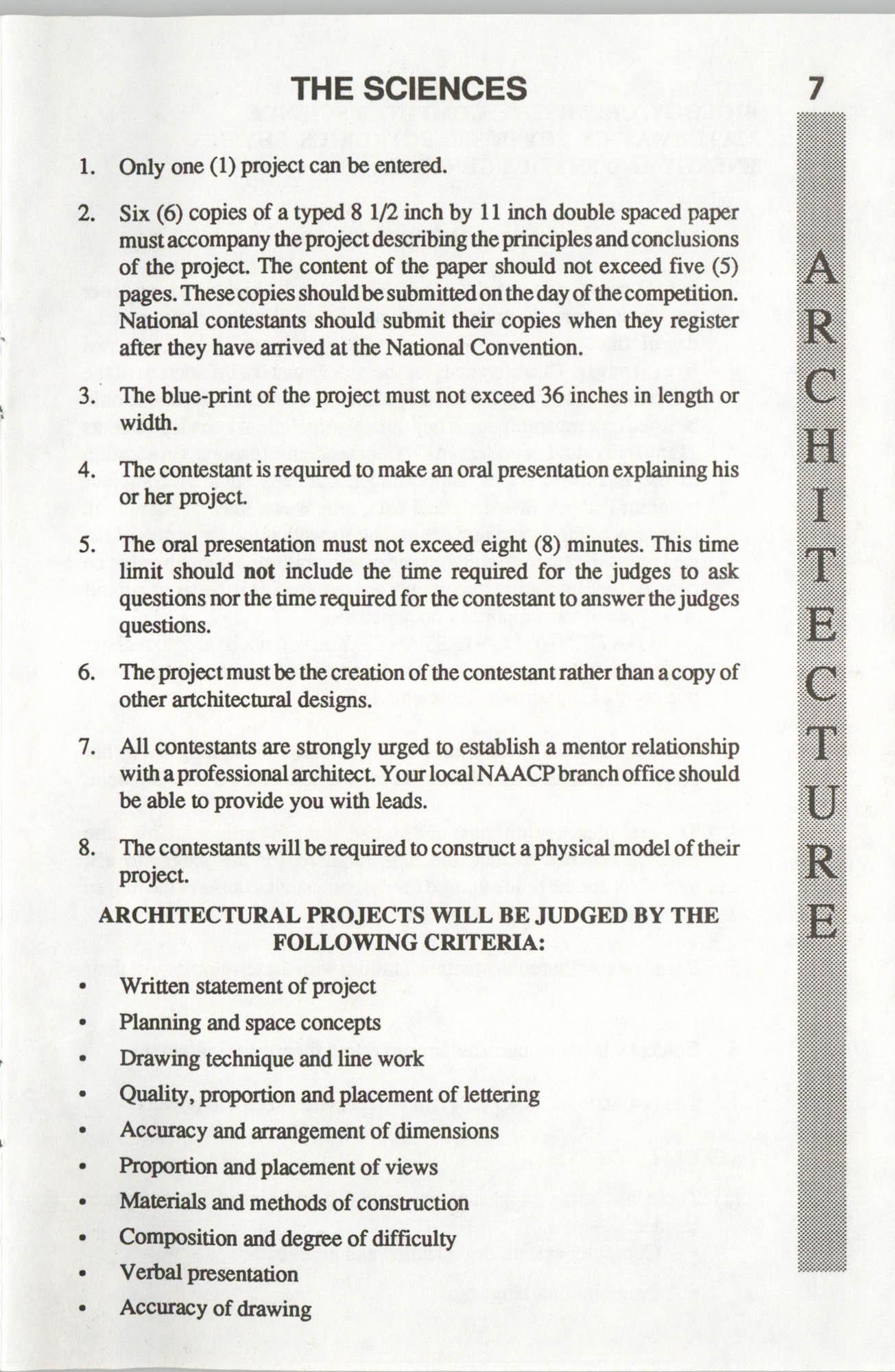 Brochure, ACT-SO Program, NAACP, 1992, Page 7