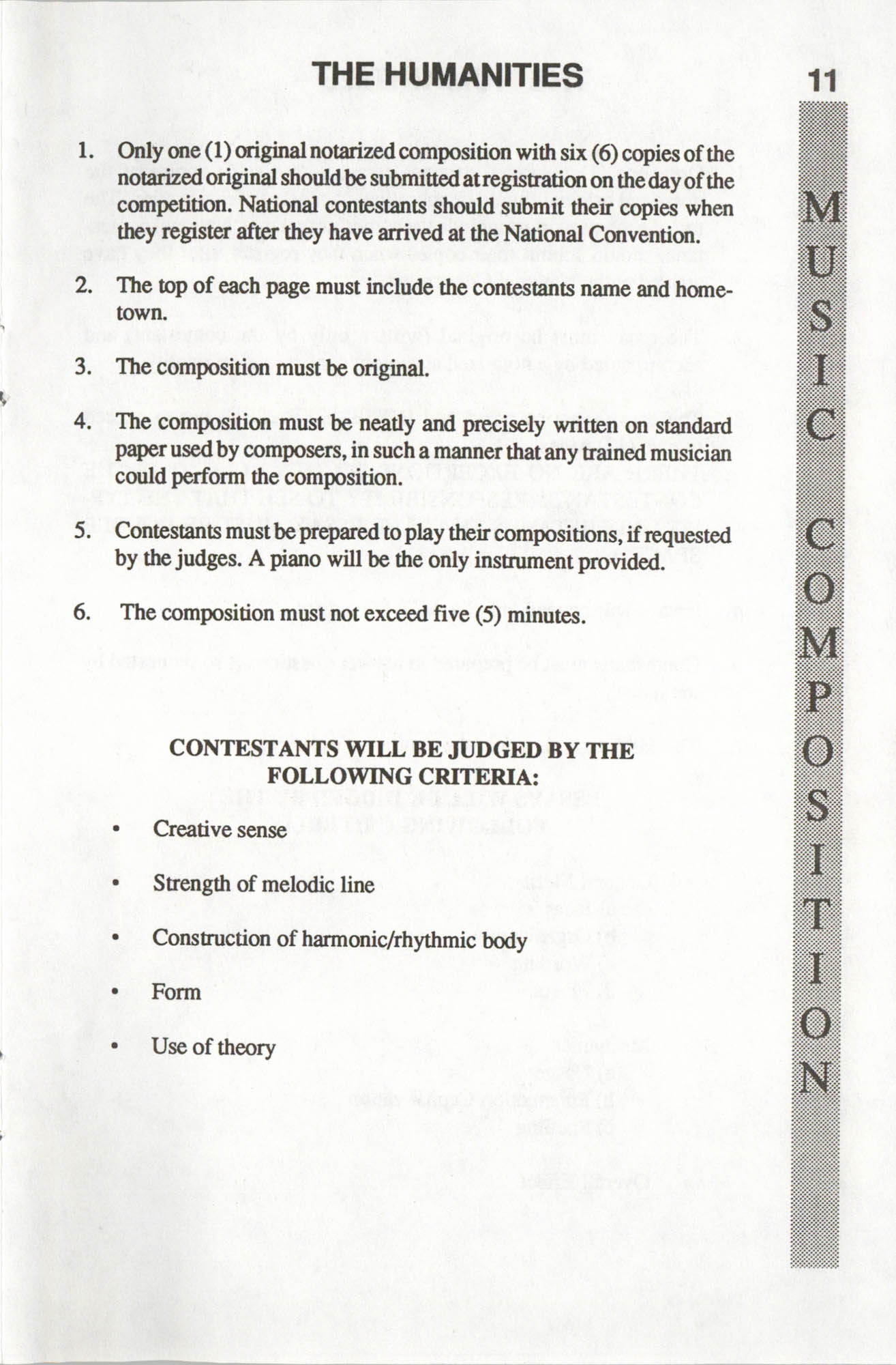 Brochure, ACT-SO Program, NAACP, 1992, Page 11