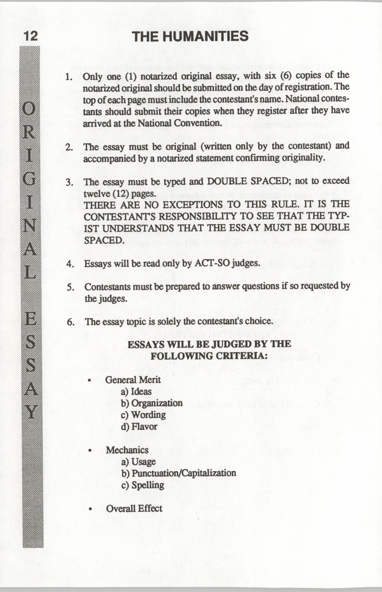 Brochure, ACT-SO Program, NAACP, 1992, Page 12