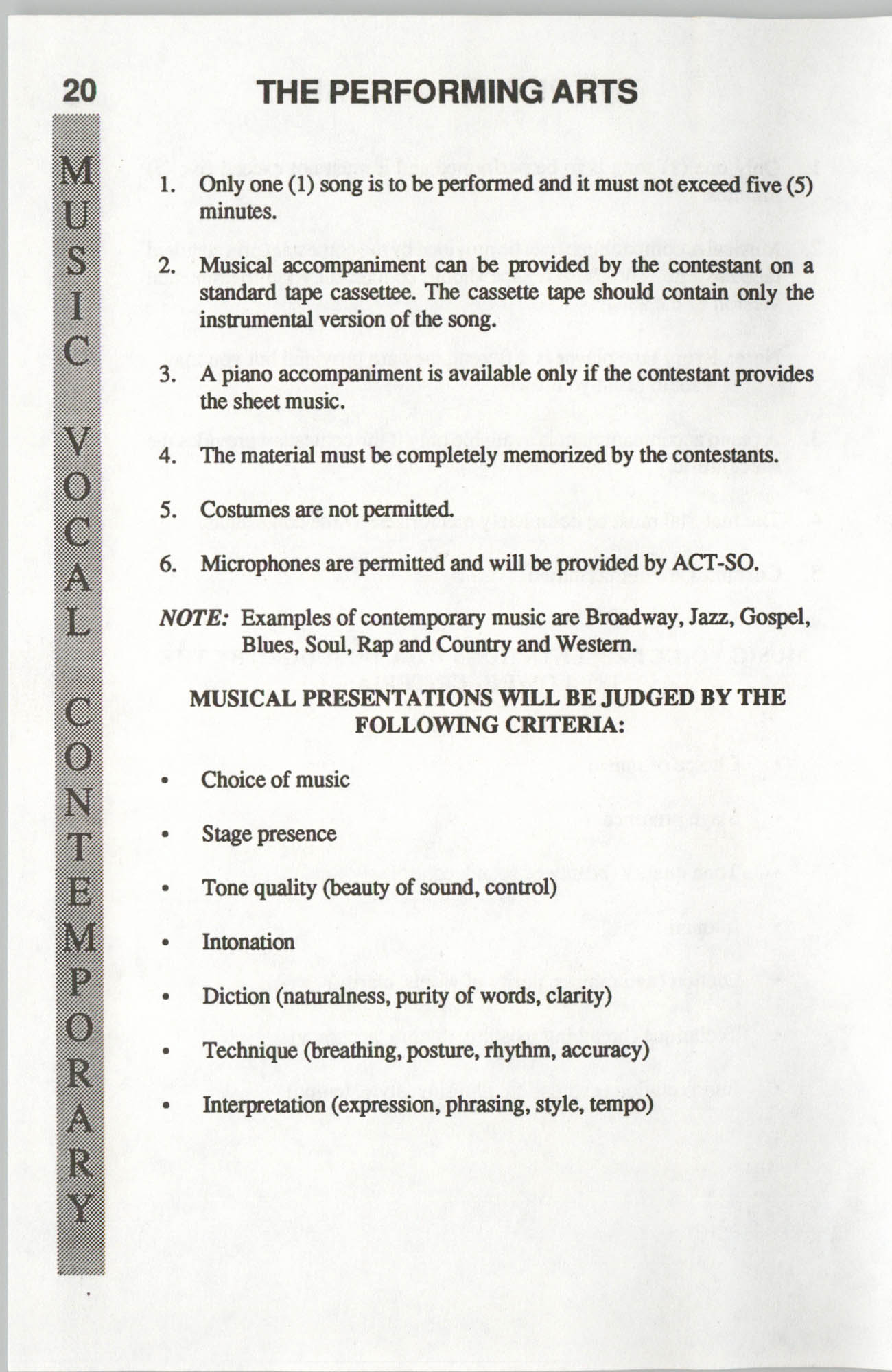 Brochure, ACT-SO Program, NAACP, 1992, Page 20