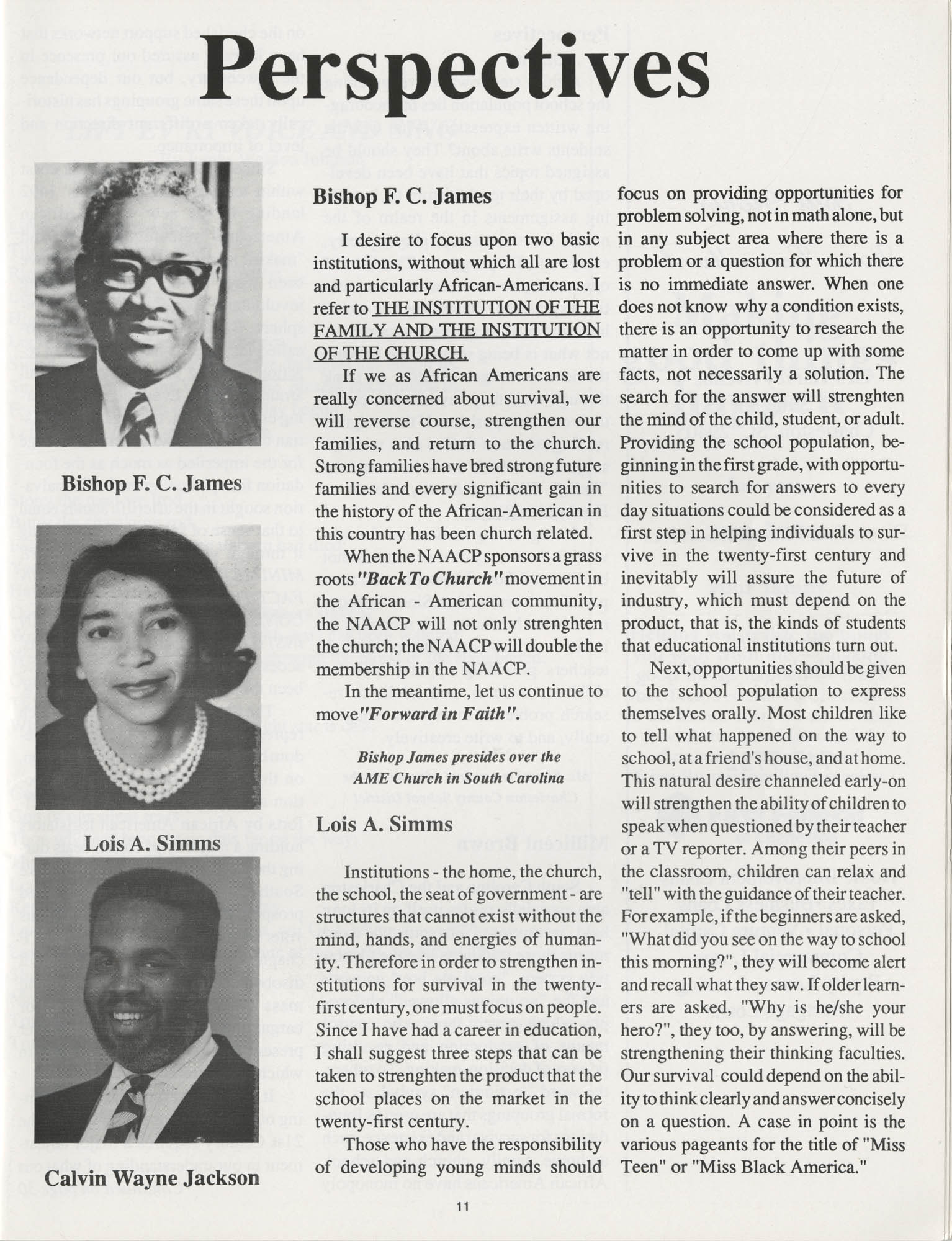 1990 NAACP Freedom Fund Magazine, Charleston Branch of the NAACP, 74th Anniversary, Page 11