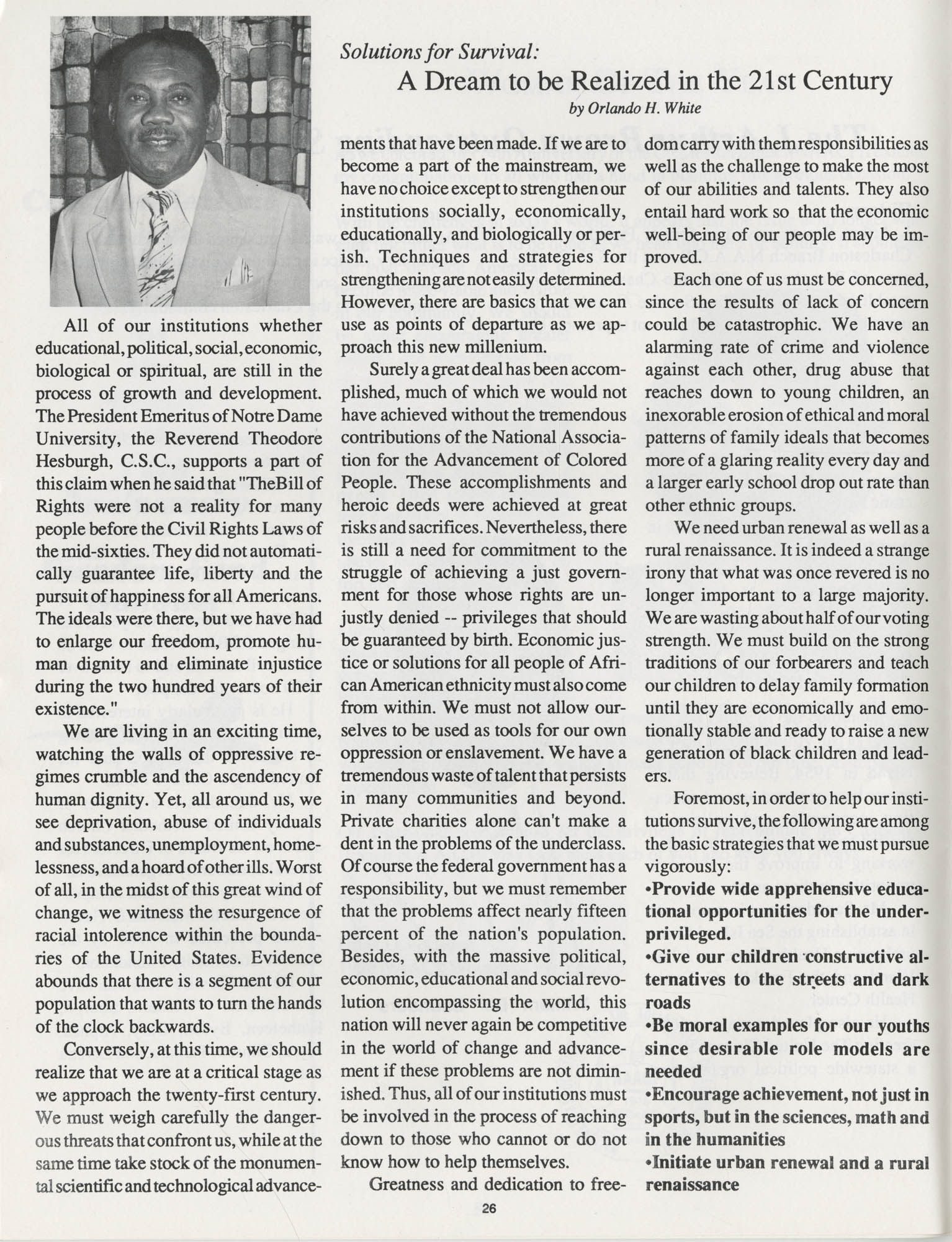 1990 NAACP Freedom Fund Magazine, Charleston Branch of the NAACP, 74th Anniversary, Page 26