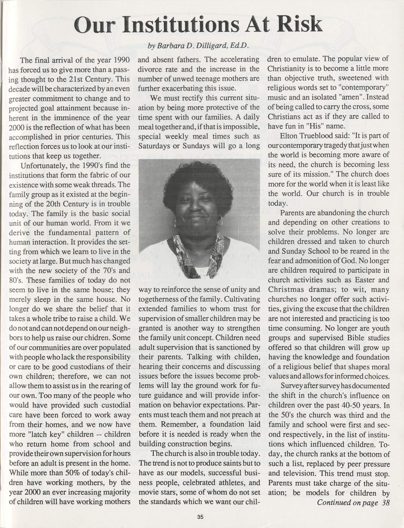 1990 NAACP Freedom Fund Magazine, Charleston Branch of the NAACP, 74th Anniversary, Page 35