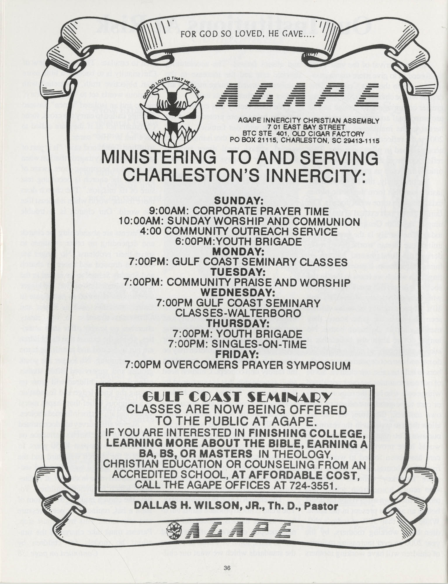 1990 NAACP Freedom Fund Magazine, Charleston Branch of the NAACP, 74th Anniversary, Page 36