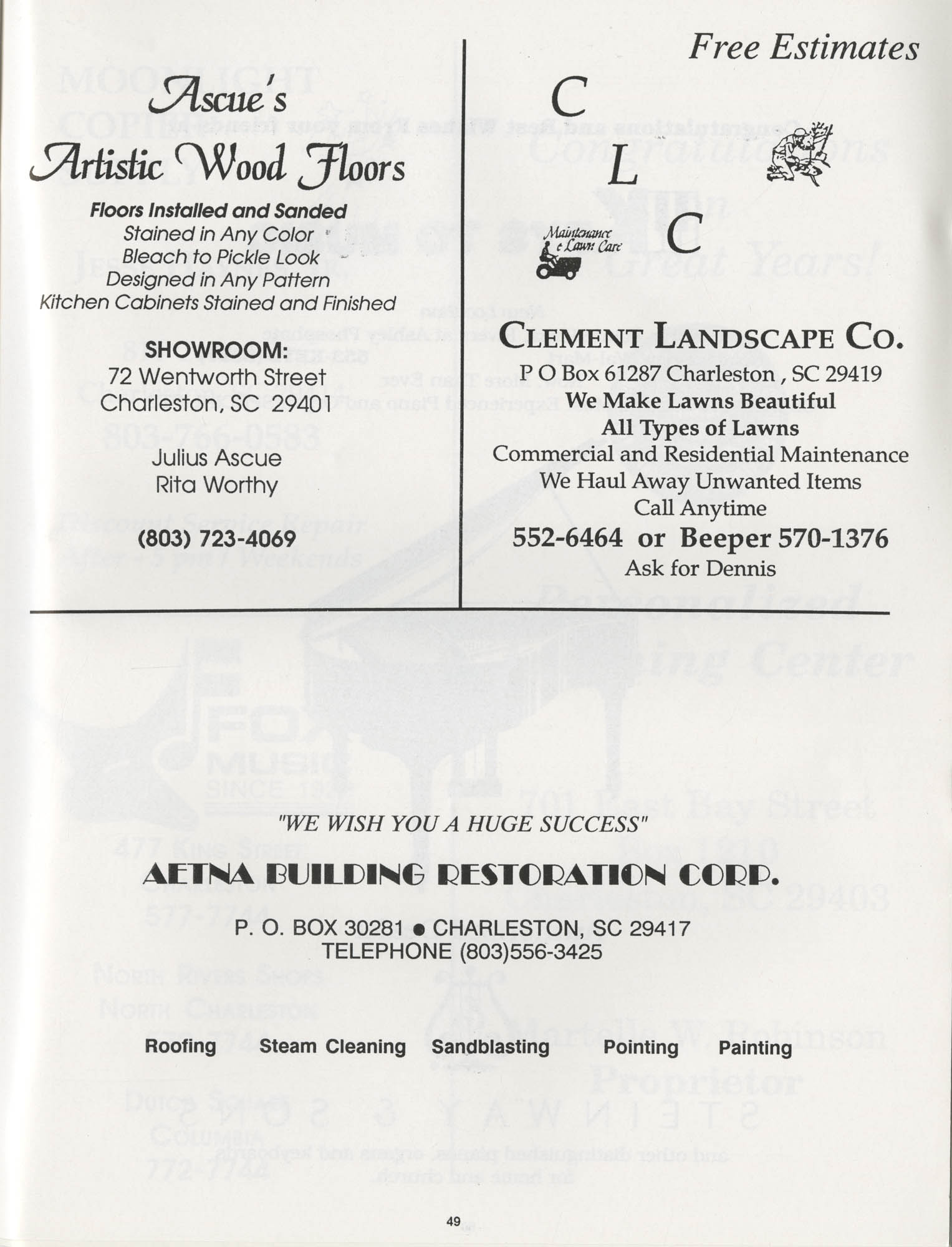 1990 NAACP Freedom Fund Magazine, Charleston Branch of the NAACP, 74th Anniversary, Page 49