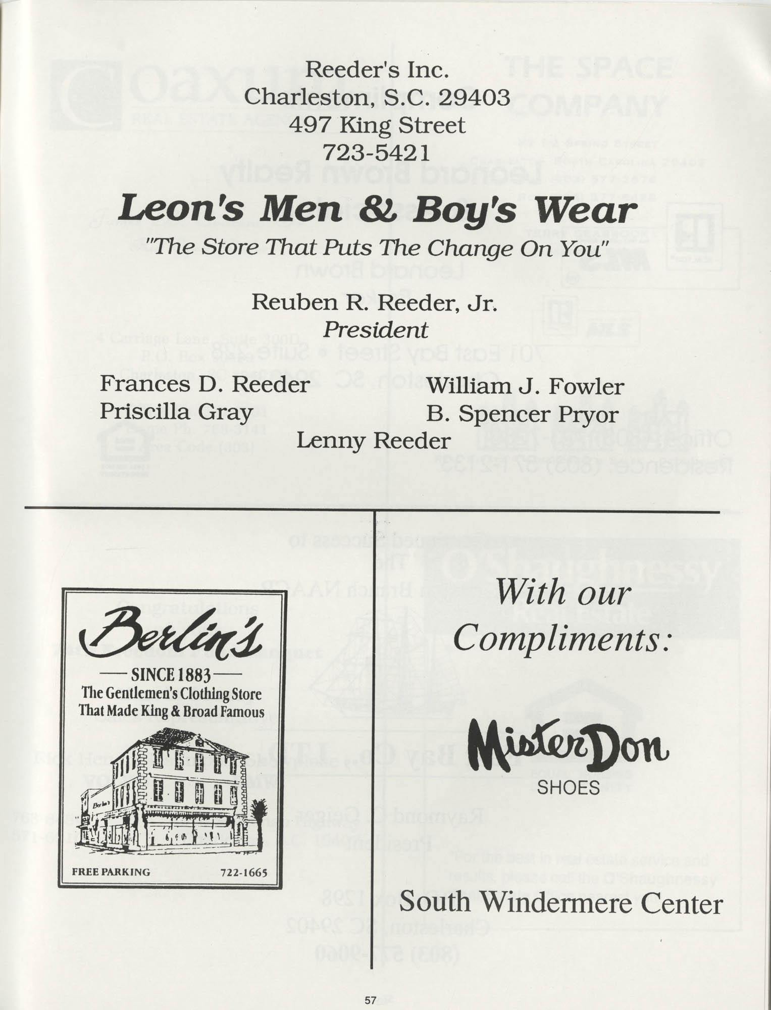 1990 NAACP Freedom Fund Magazine, Charleston Branch of the NAACP, 74th Anniversary, Page 57