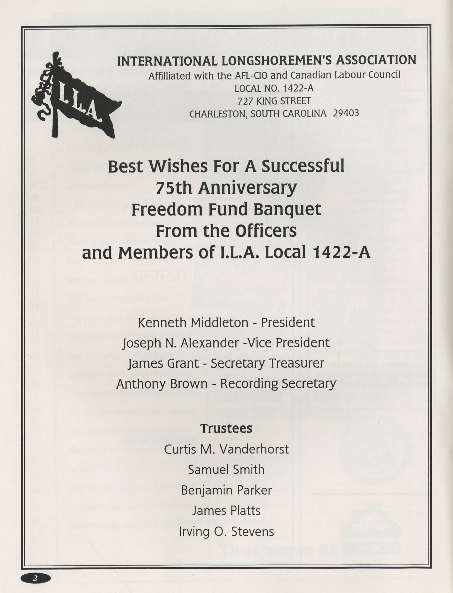 1991 Freedom Fund Magazine, Charleston Branch of the NAACP, Page 2