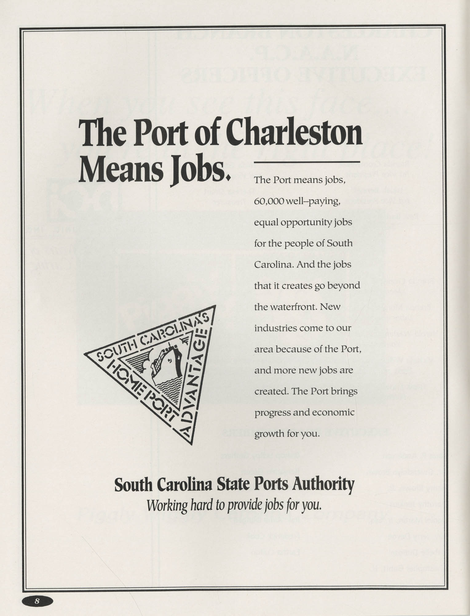 1991 Freedom Fund Magazine, Charleston Branch of the NAACP, Page 8