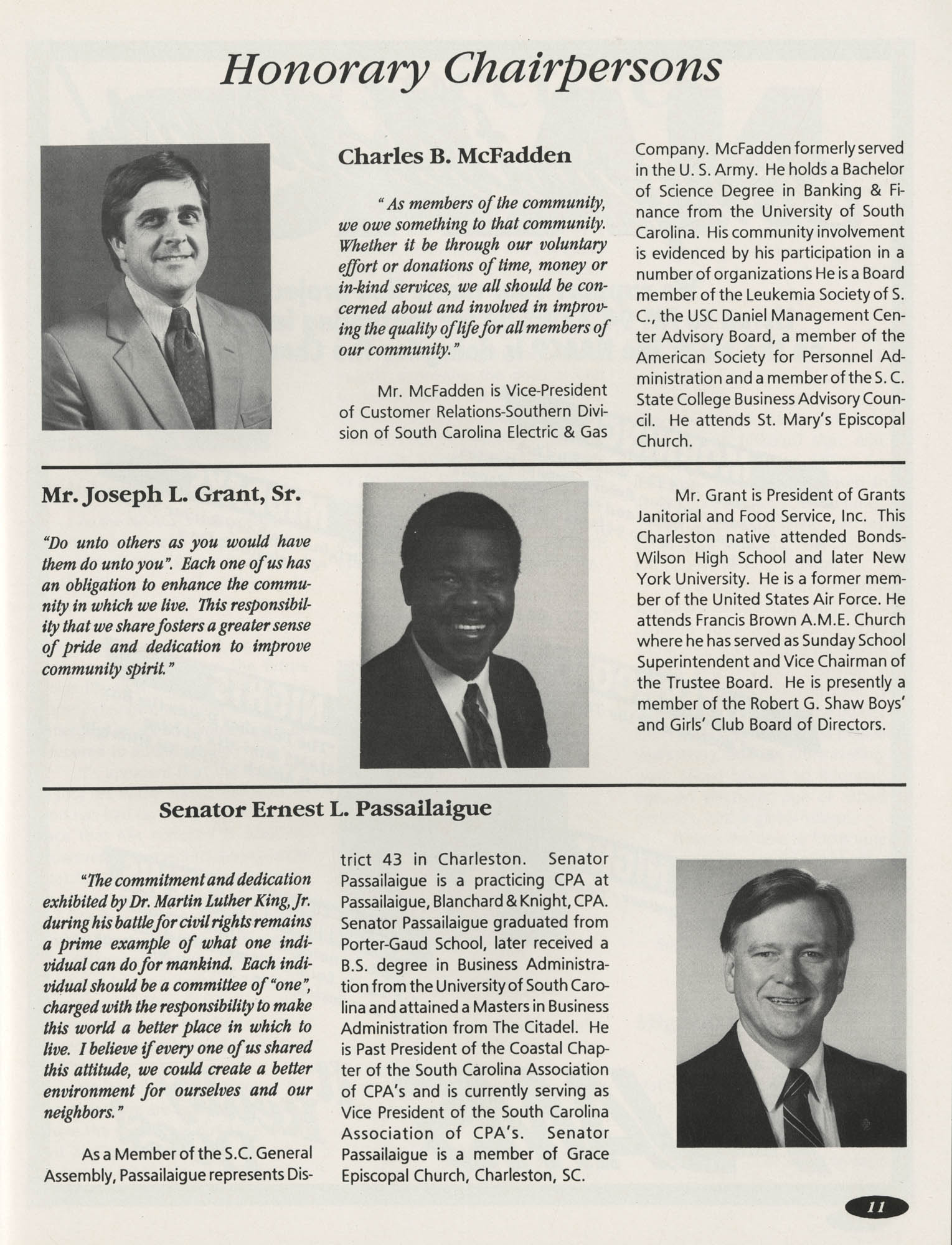 1991 Freedom Fund Magazine, Charleston Branch of the NAACP, Page 11
