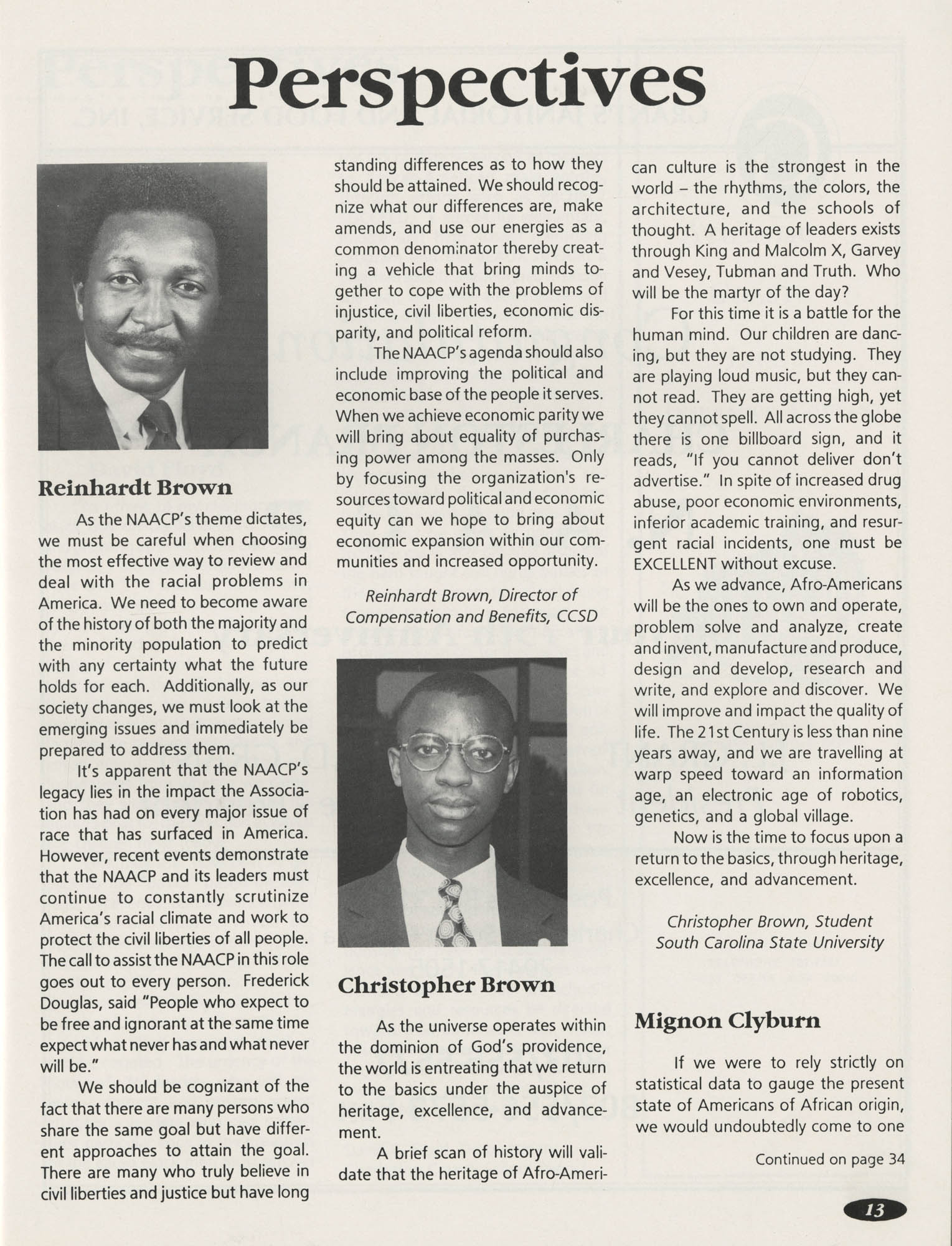 1991 Freedom Fund Magazine, Charleston Branch of the NAACP, Page 13