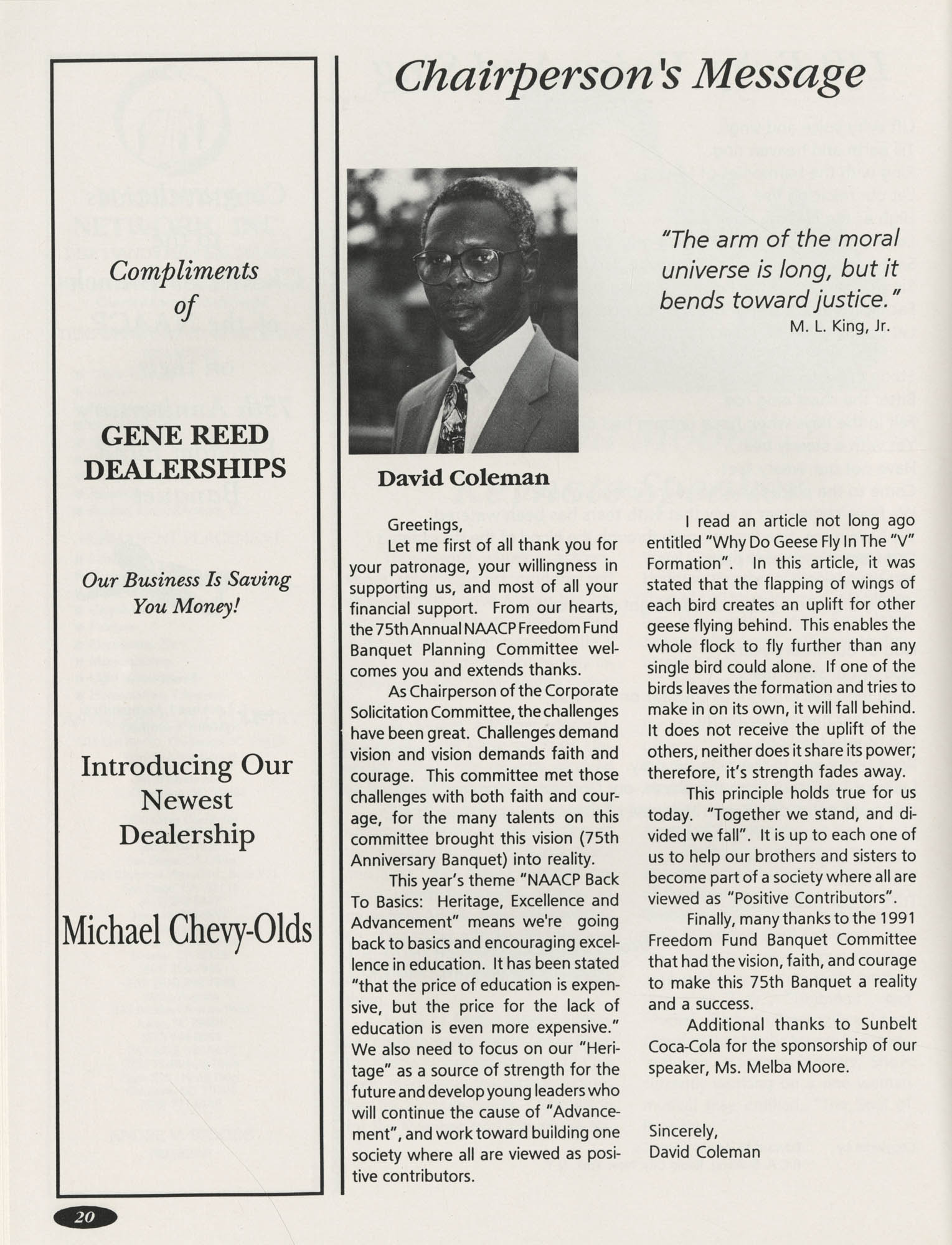 1991 Freedom Fund Magazine, Charleston Branch of the NAACP, Page 20