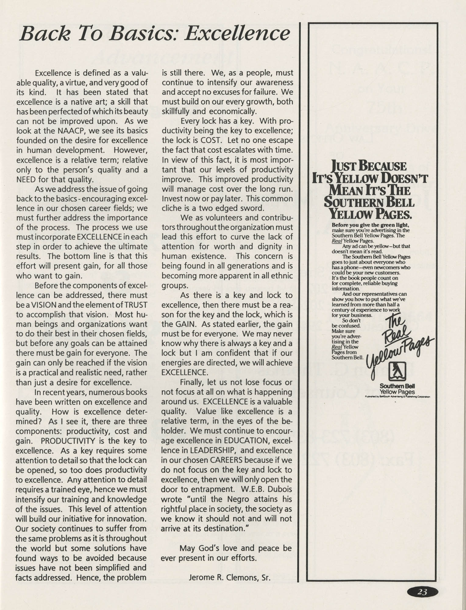 1991 Freedom Fund Magazine, Charleston Branch of the NAACP, Page 23
