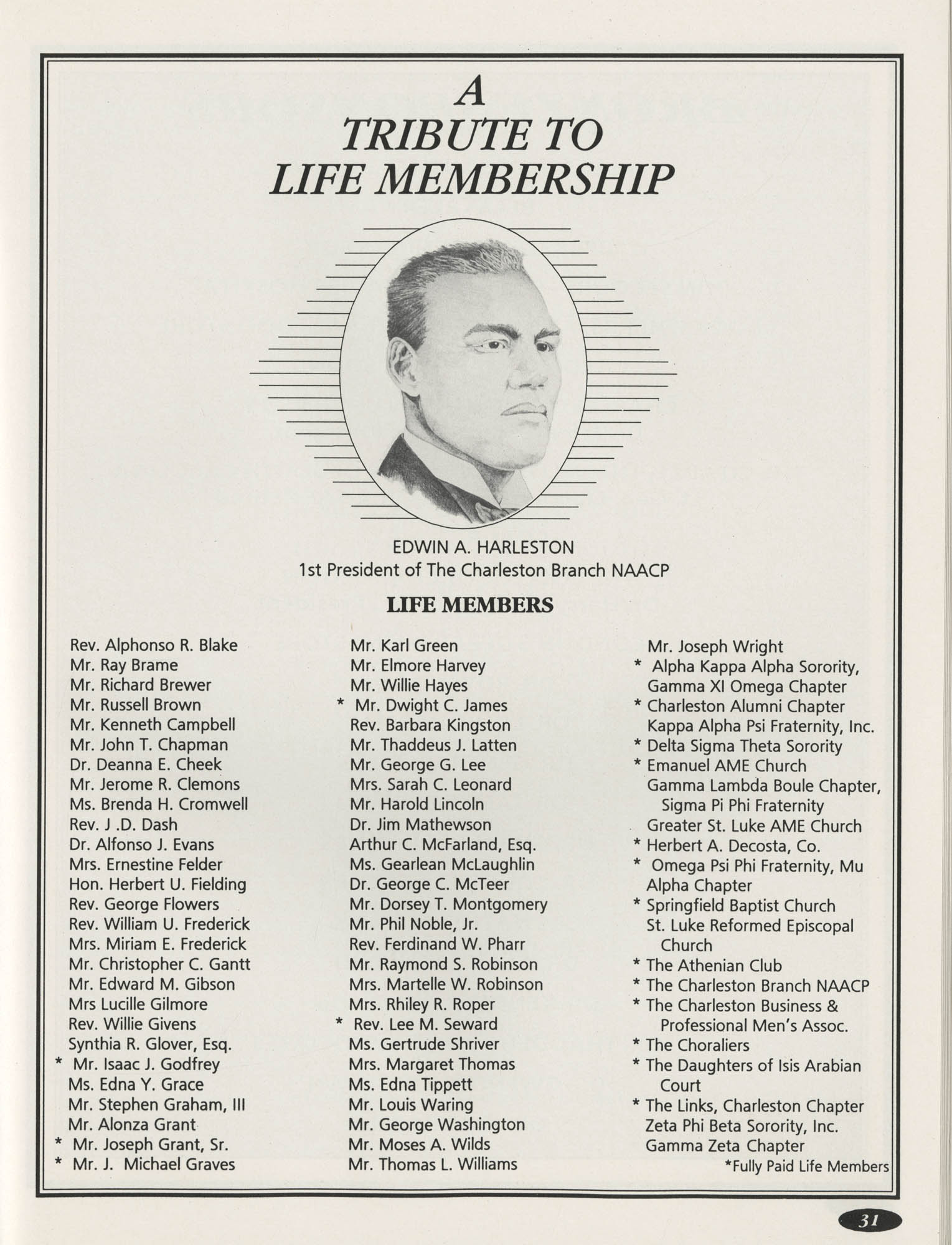 1991 Freedom Fund Magazine, Charleston Branch of the NAACP, Page 31