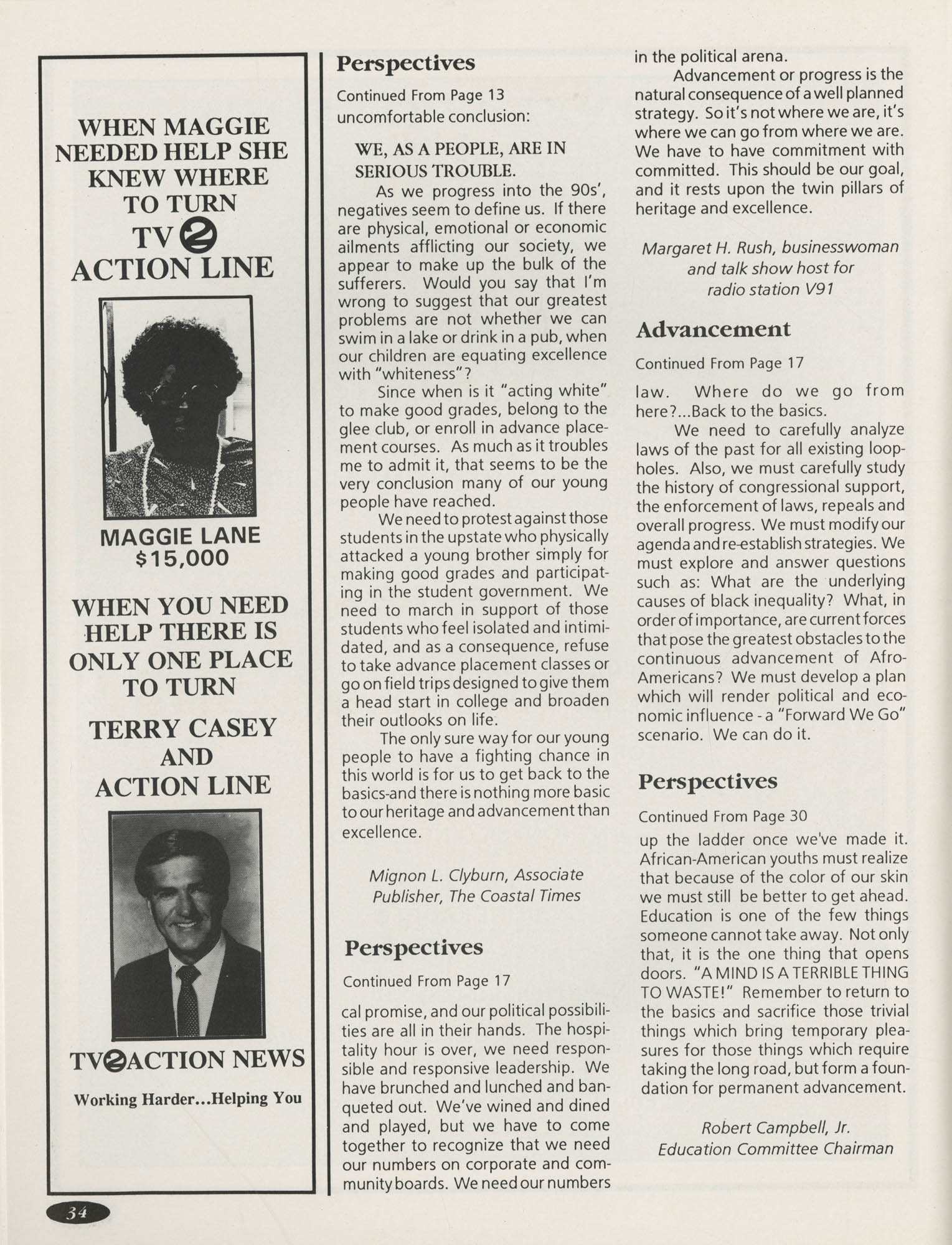 1991 Freedom Fund Magazine, Charleston Branch of the NAACP, Page 34