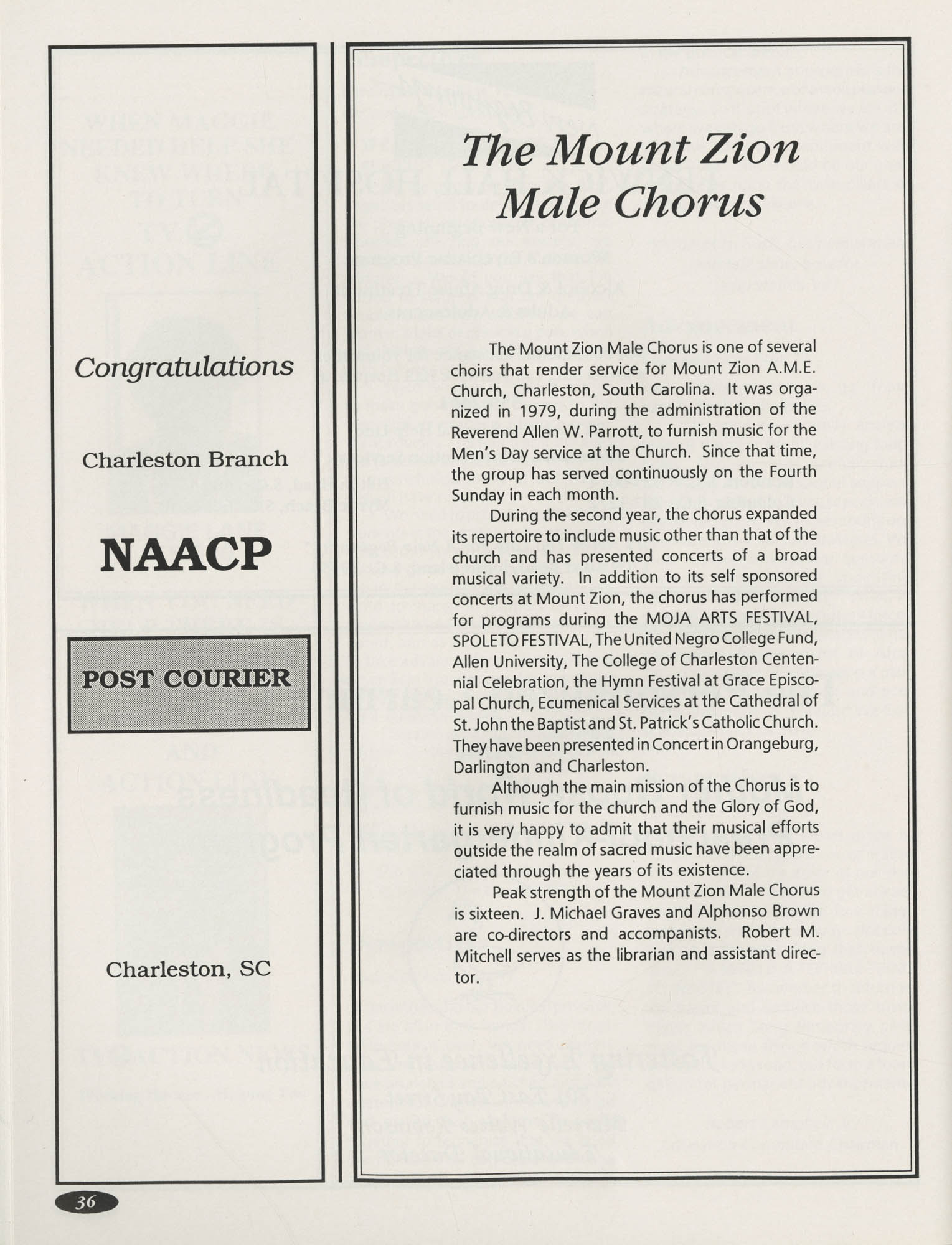 1991 Freedom Fund Magazine, Charleston Branch of the NAACP, Page 36