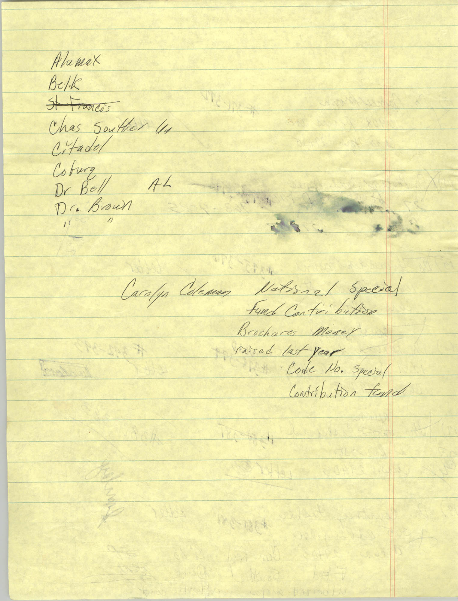 Handwritten Addresses for Tickets, Page 9