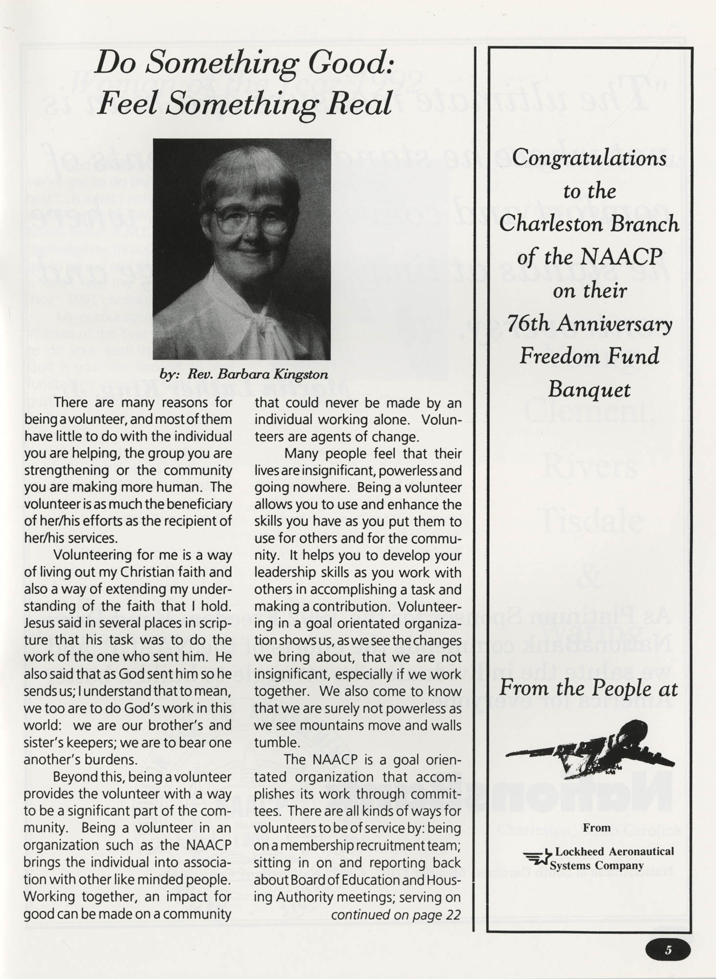 Freedom Fund Magazine, 1992, Page 5