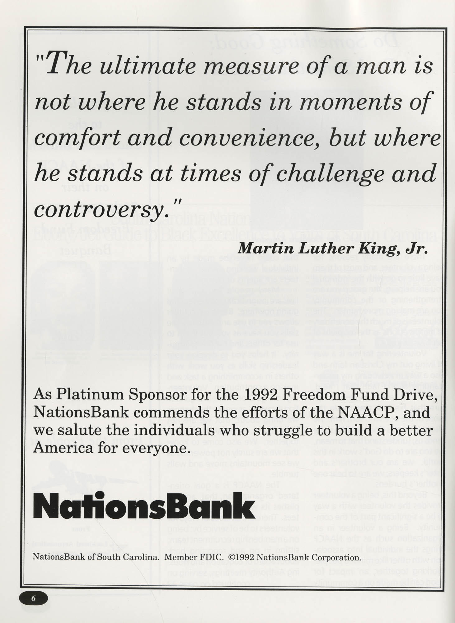 Freedom Fund Magazine, 1992, Page 6