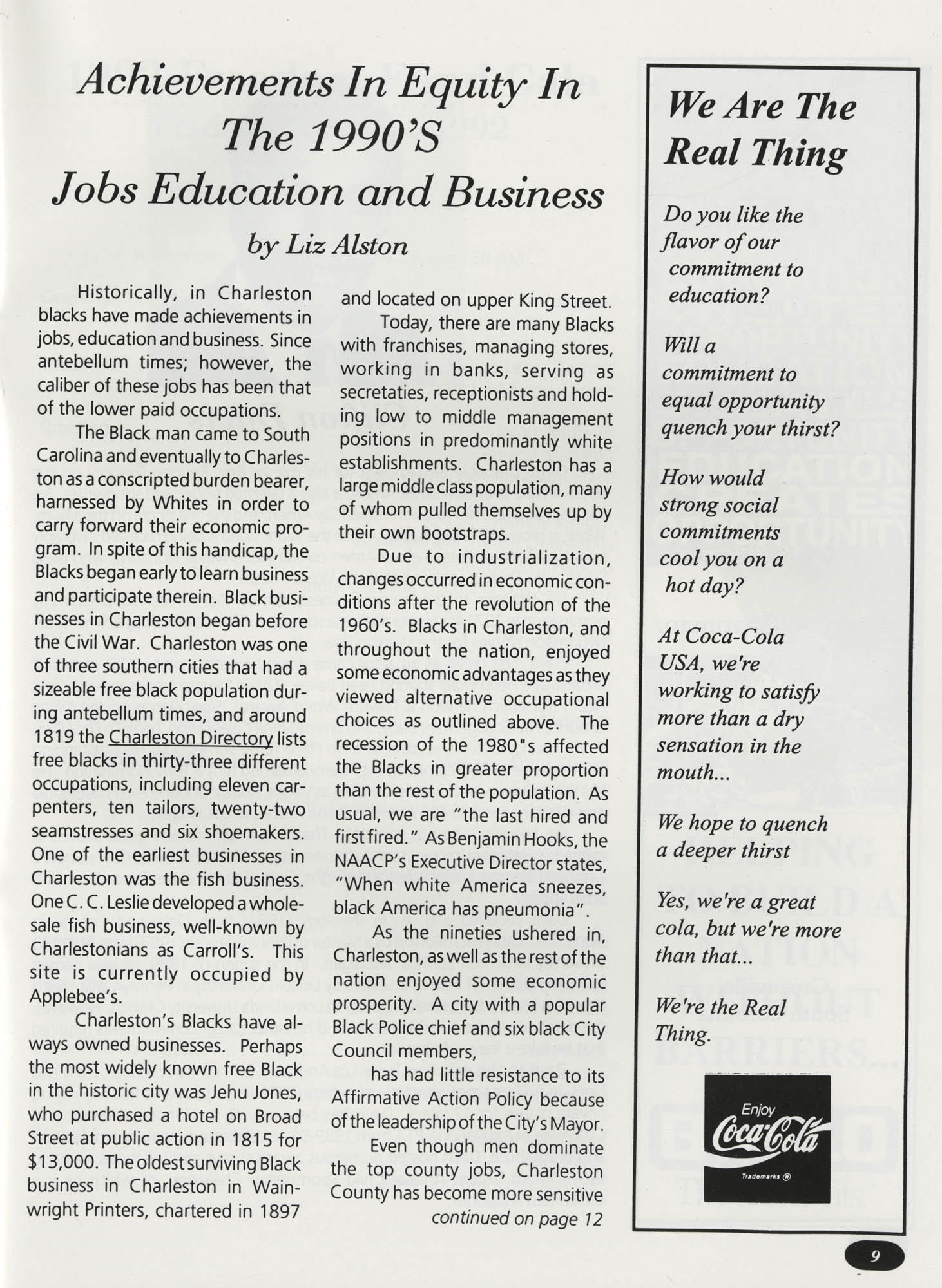 Freedom Fund Magazine, 1992, Page 9