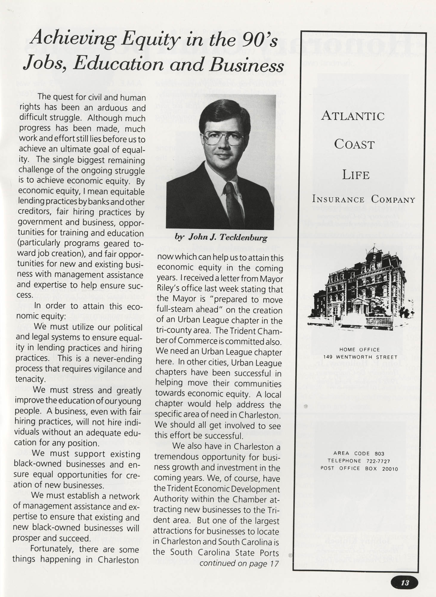 Freedom Fund Magazine, 1992, Page 13