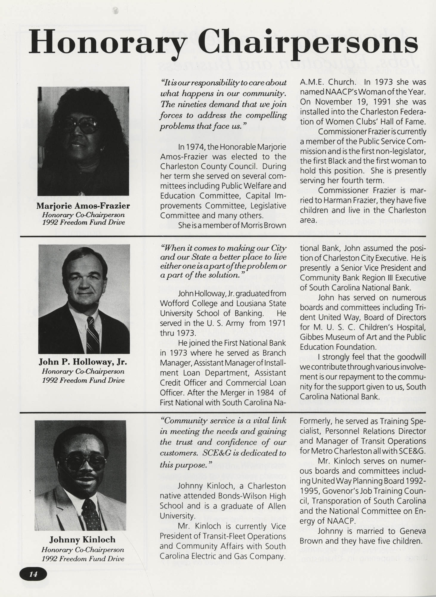 Freedom Fund Magazine, 1992, Page 14