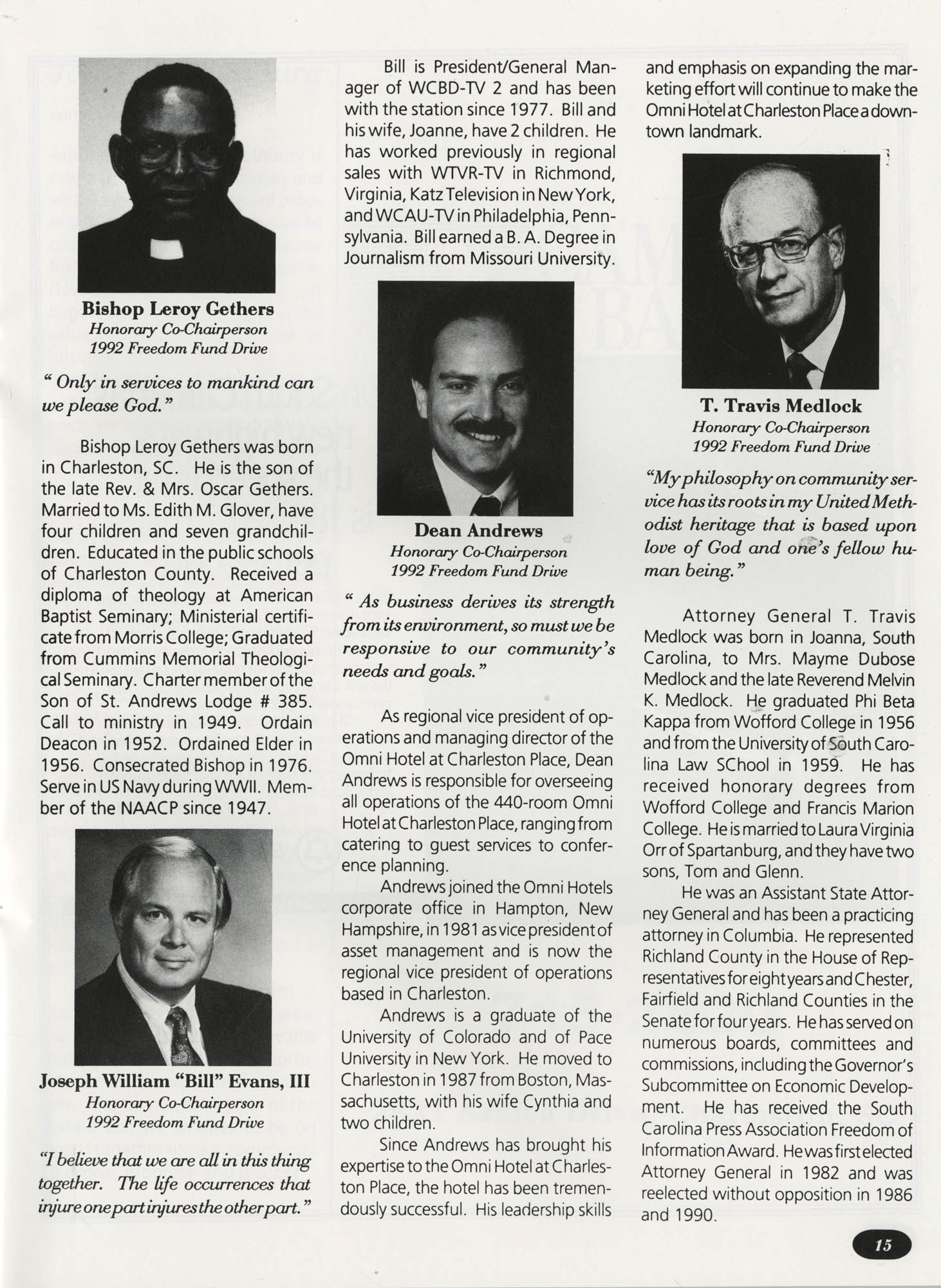 Freedom Fund Magazine, 1992, Page 15