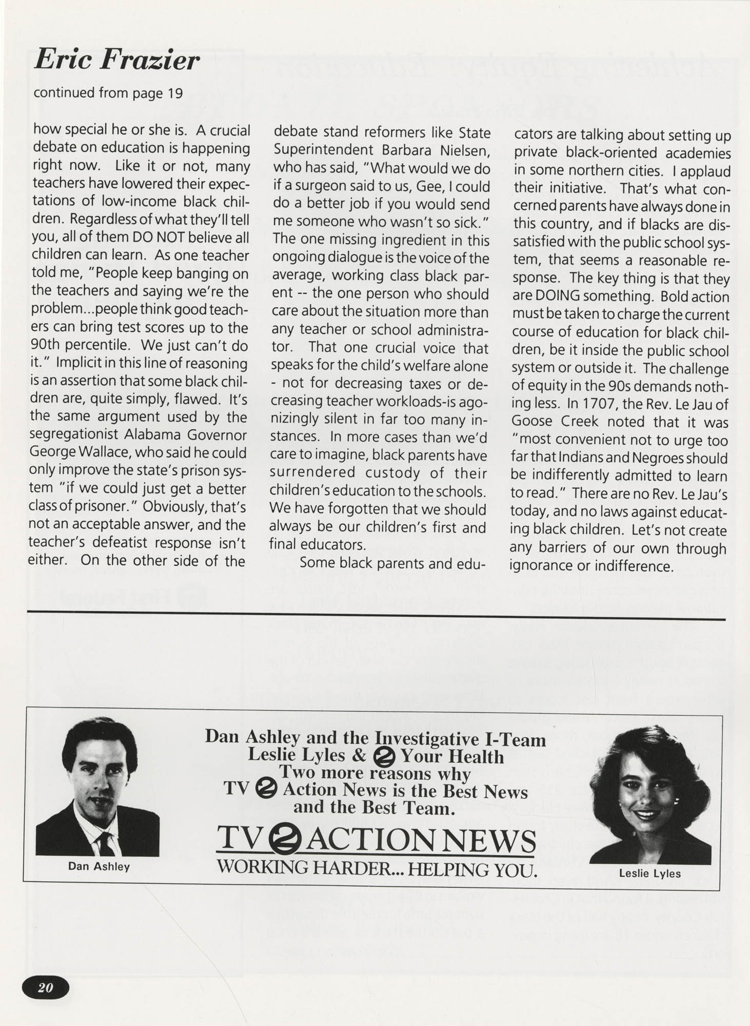 Freedom Fund Magazine, 1992, Page 20